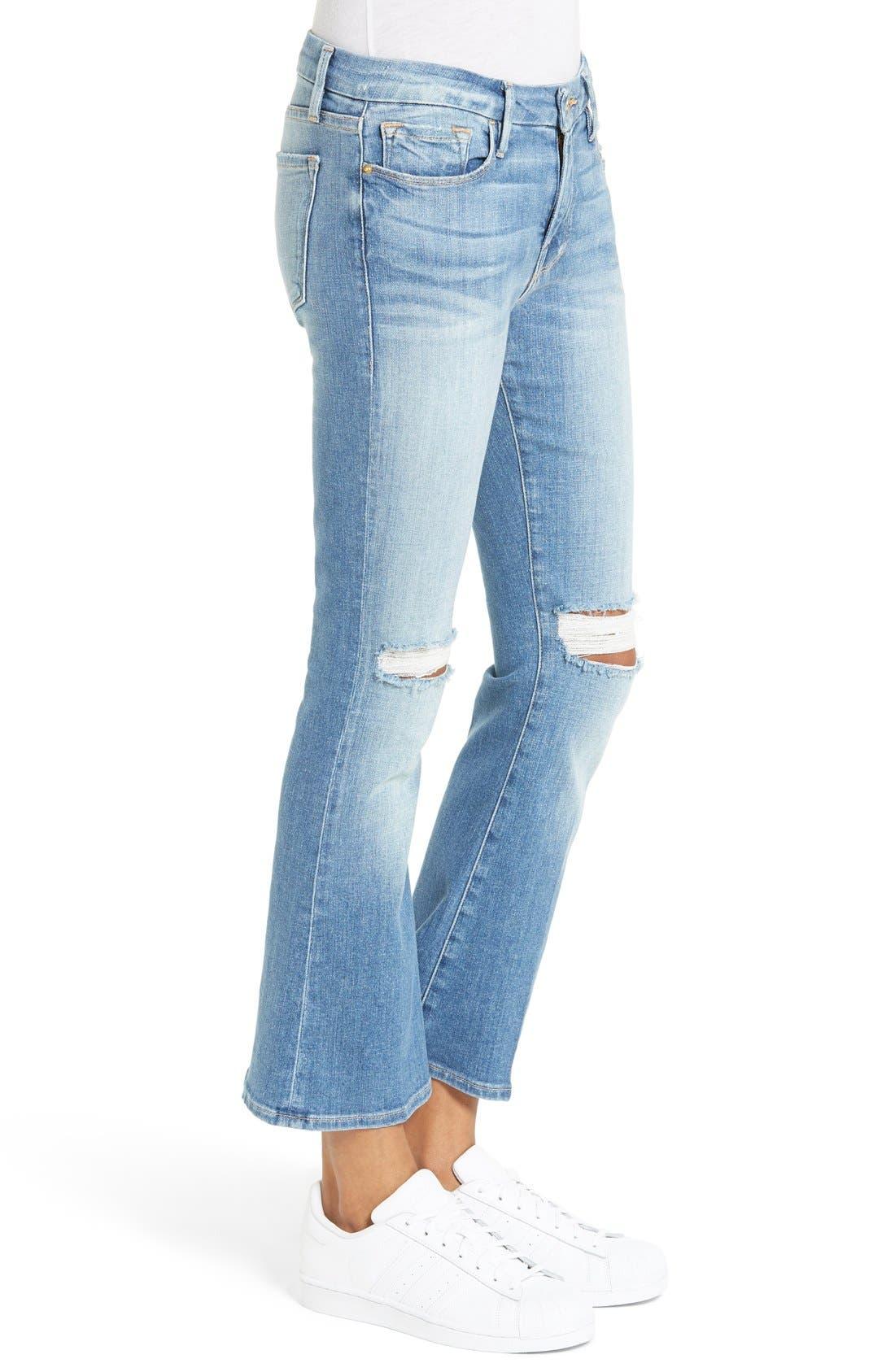 Le Crop Mini Boot Jeans,                             Alternate thumbnail 3, color,