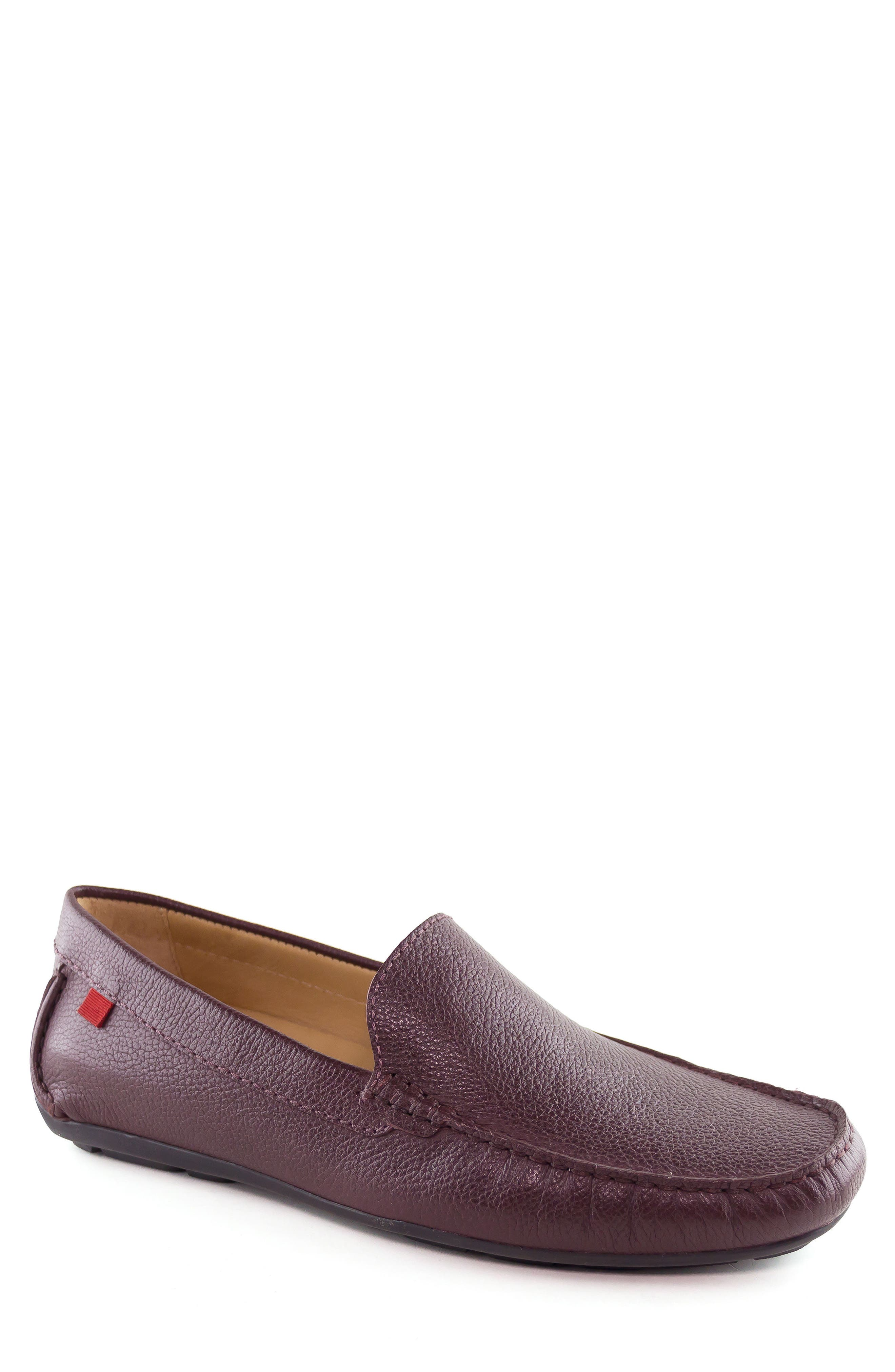 Venetian Driving Loafer,                             Main thumbnail 1, color,                             WINE GRAINY