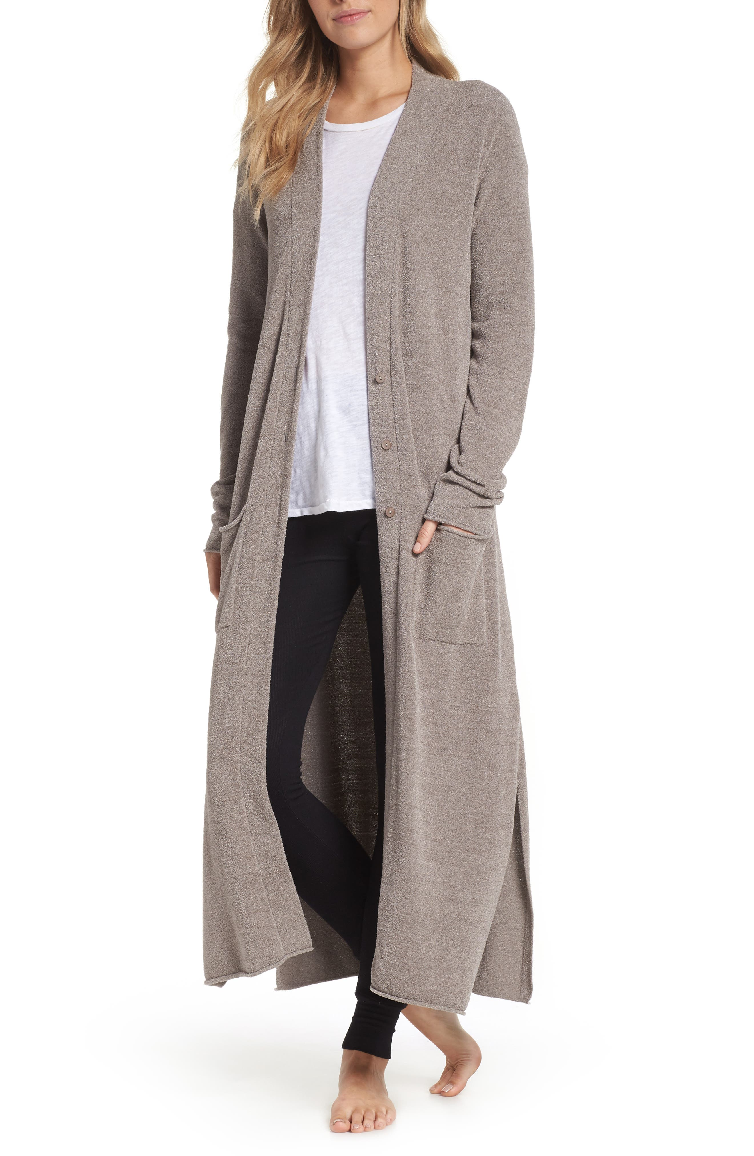 BAREFOOT DREAMS<SUP>®</SUP>,                             Barefoot Dreams Cozychic Ultra Lite<sup>®</sup> Duster,                             Main thumbnail 1, color,                             BEACH ROCK