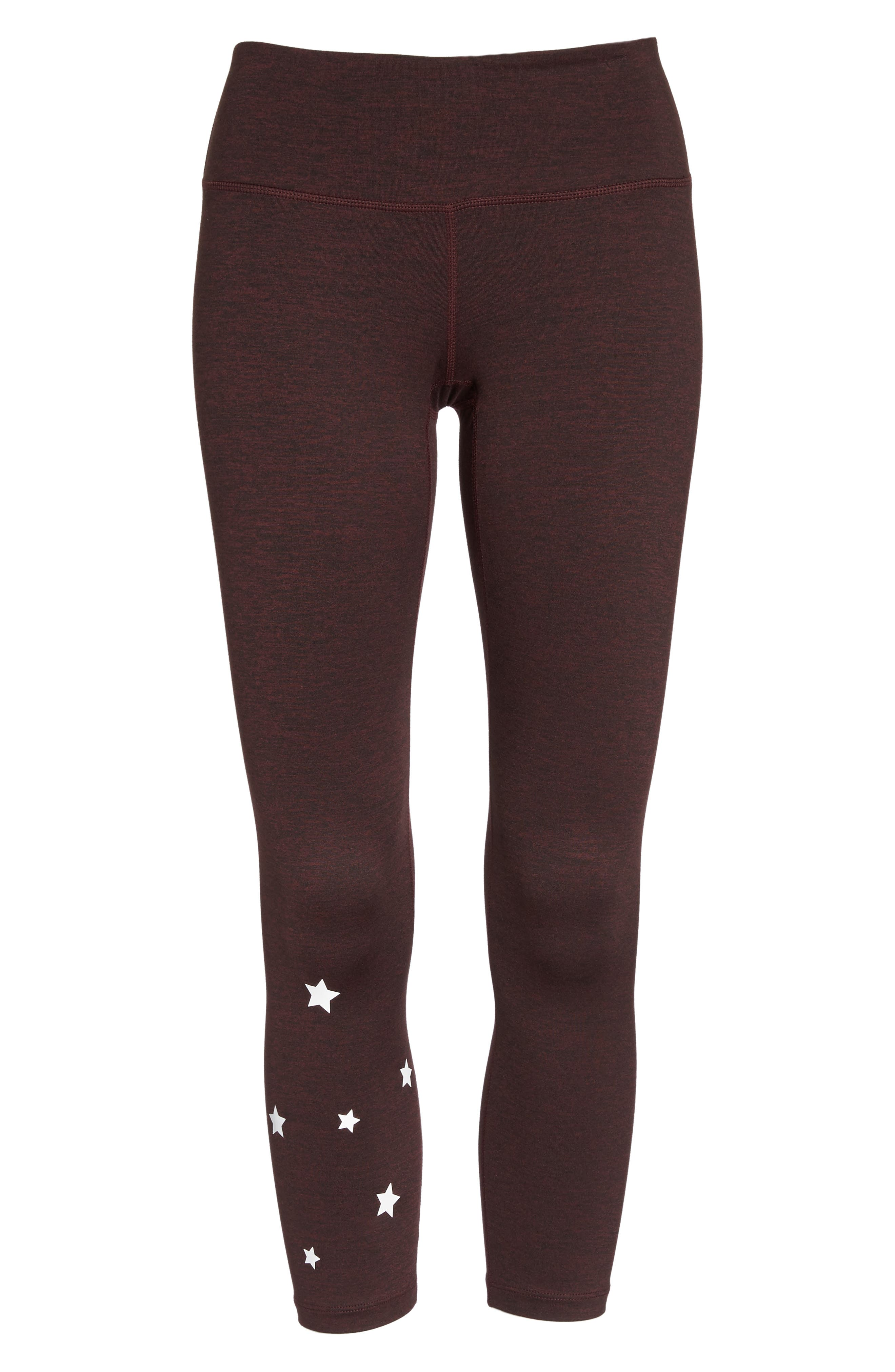 Stars Power Crop Leggings,                             Alternate thumbnail 7, color,                             602