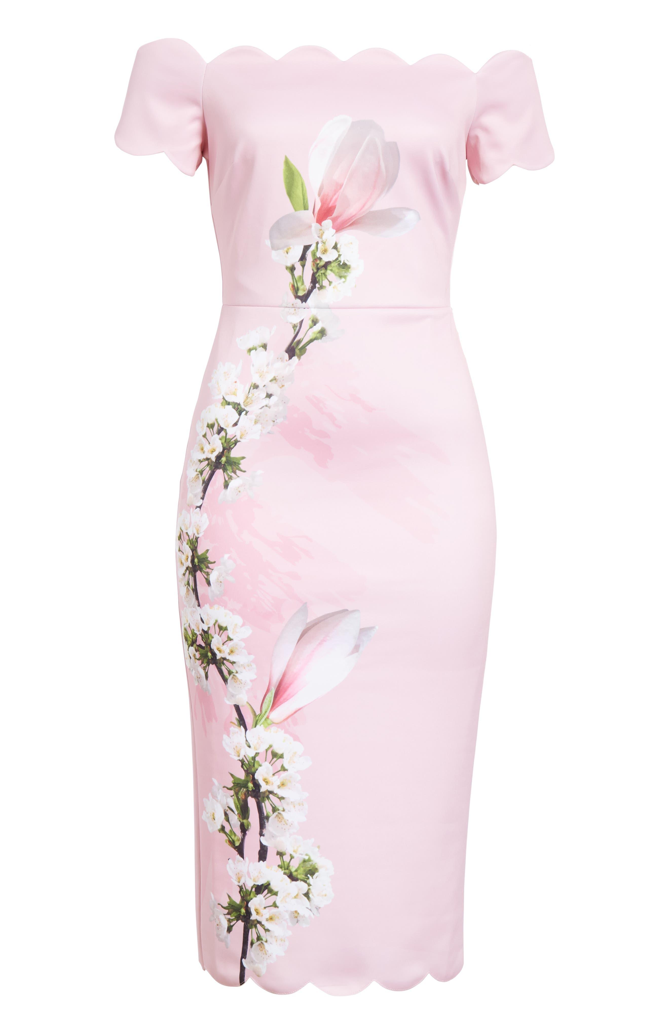 Olyva Harmony Body-Con Dress,                             Alternate thumbnail 6, color,                             PALE PINK