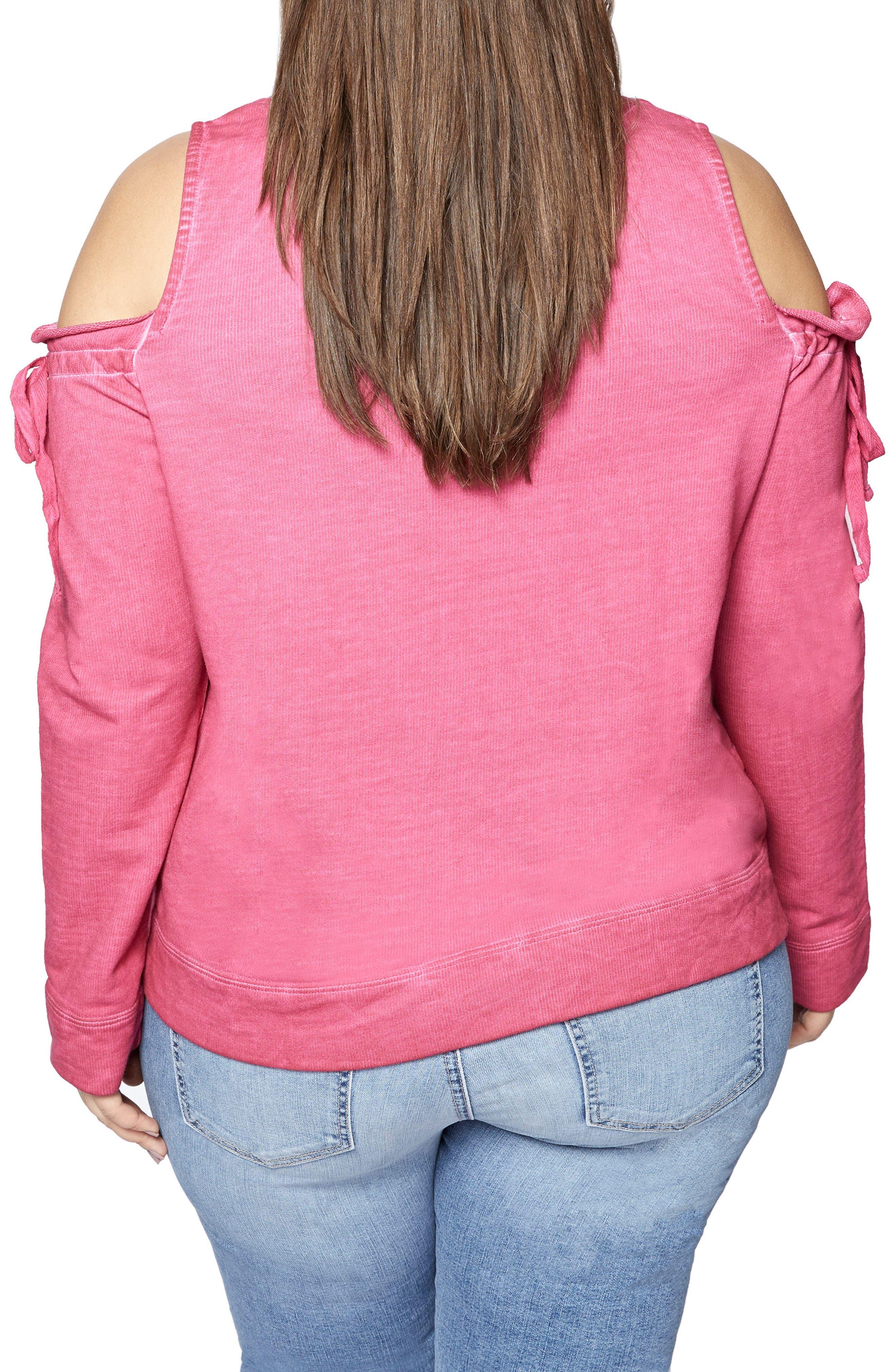 Parkside Cold Shoulder Sweatshirt,                             Alternate thumbnail 6, color,