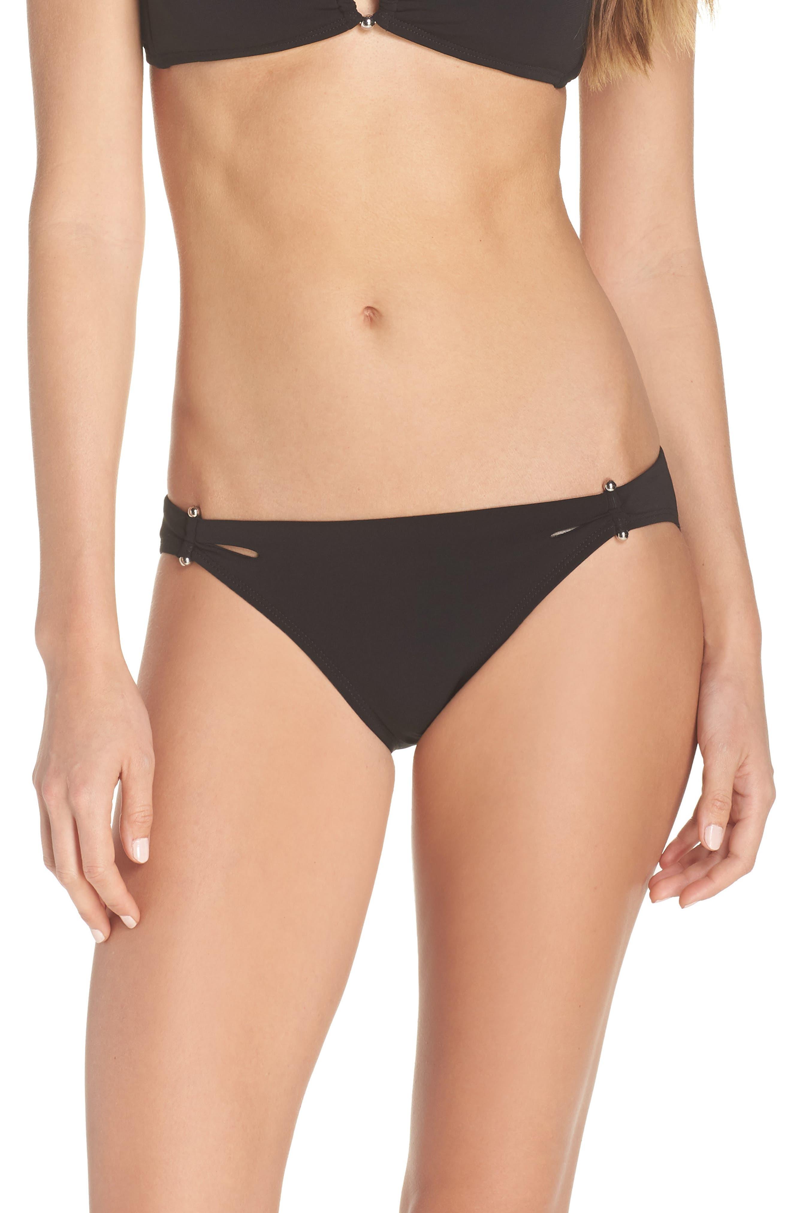 Ava Bikini Bottoms,                         Main,                         color, BLACK
