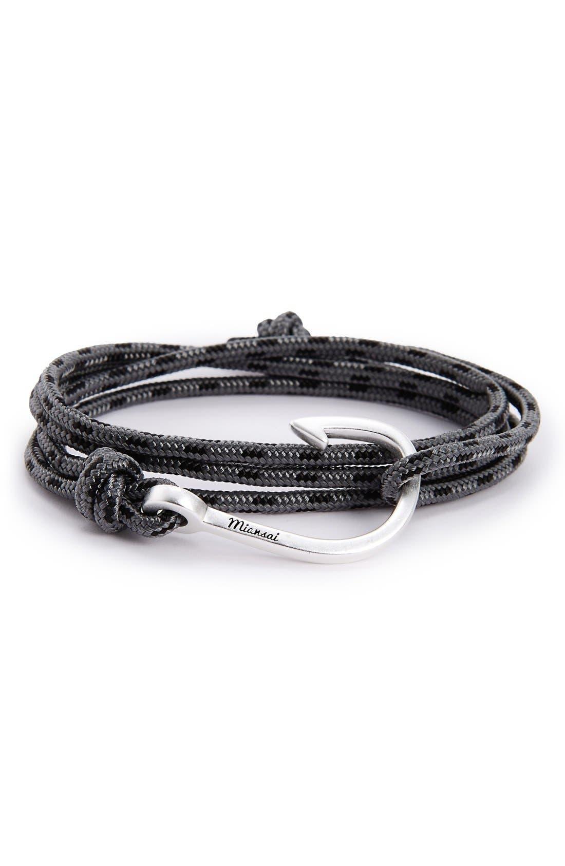 Hook & Rope Wrap Bracelet,                             Main thumbnail 1, color,                             055