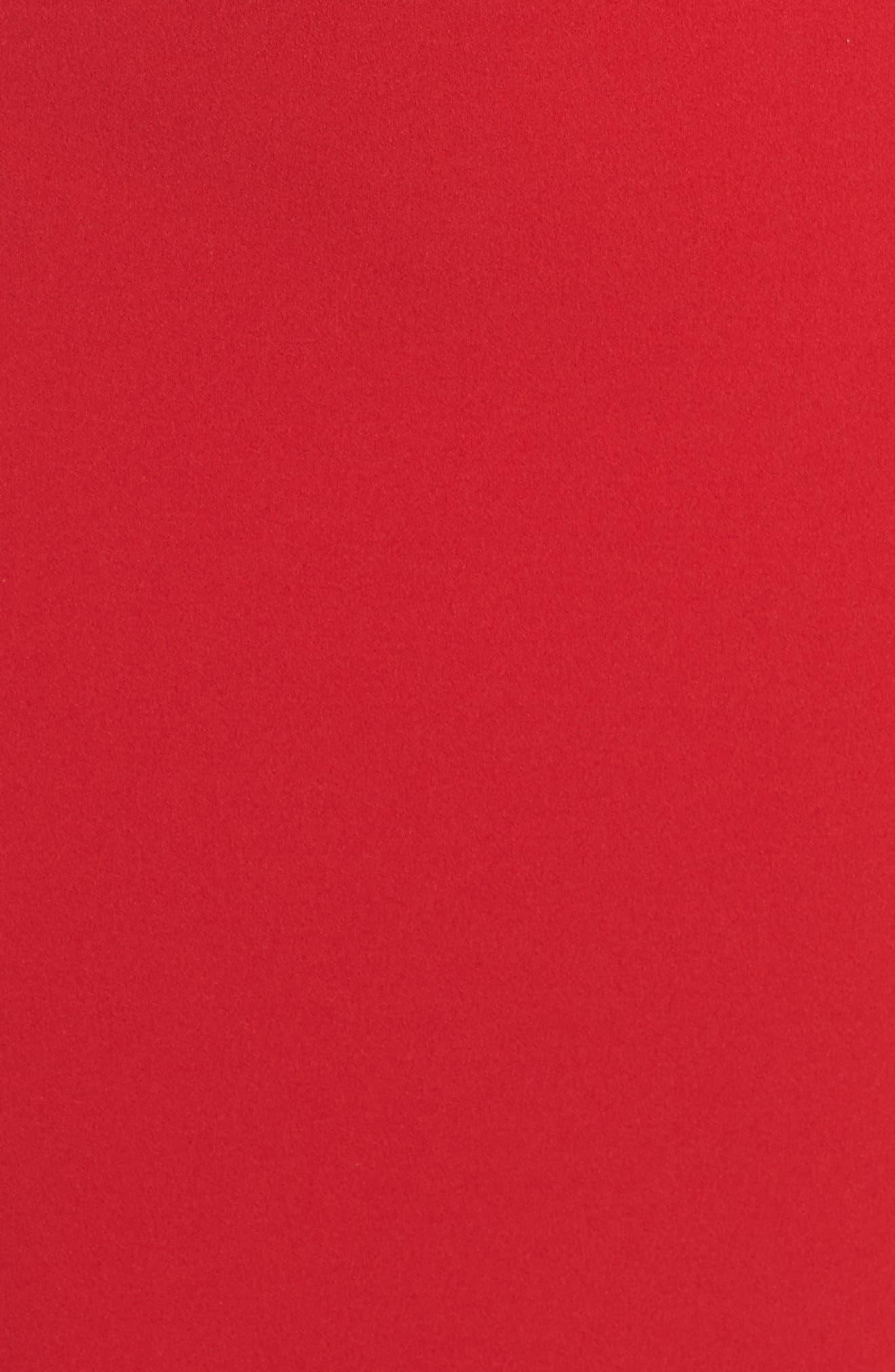 Knotted Scuba Sheath Dress,                             Alternate thumbnail 6, color,                             600