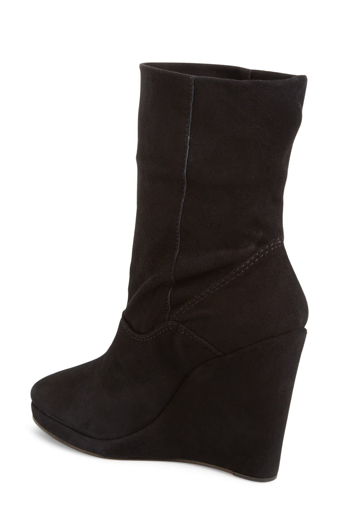 M4D3 Melanie Wedge Boot,                             Alternate thumbnail 3, color,                             001