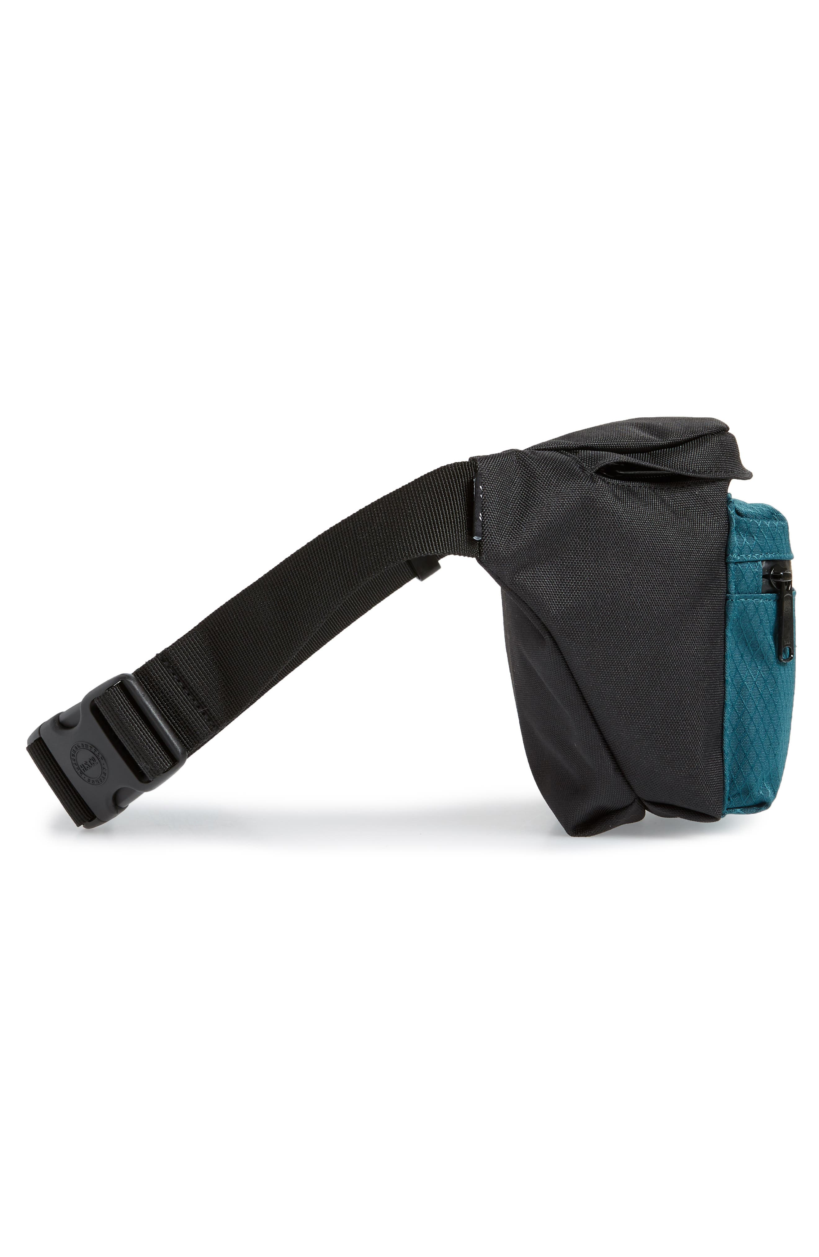 'Seventeen' Belt Bag,                             Alternate thumbnail 6, color,                             BLACK/ DEEP TEAL