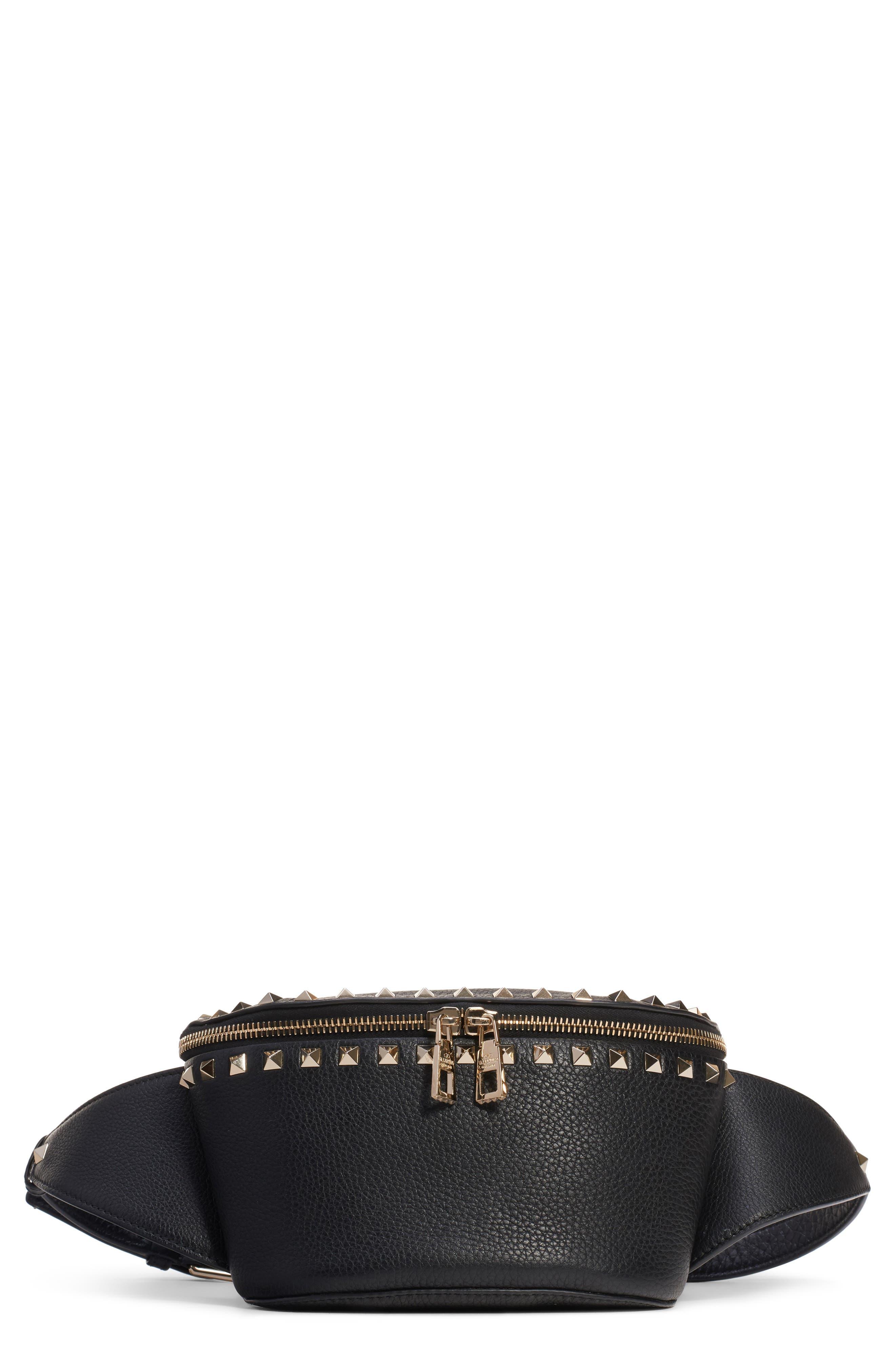 Rockstud Belt Bag,                         Main,                         color, NERO