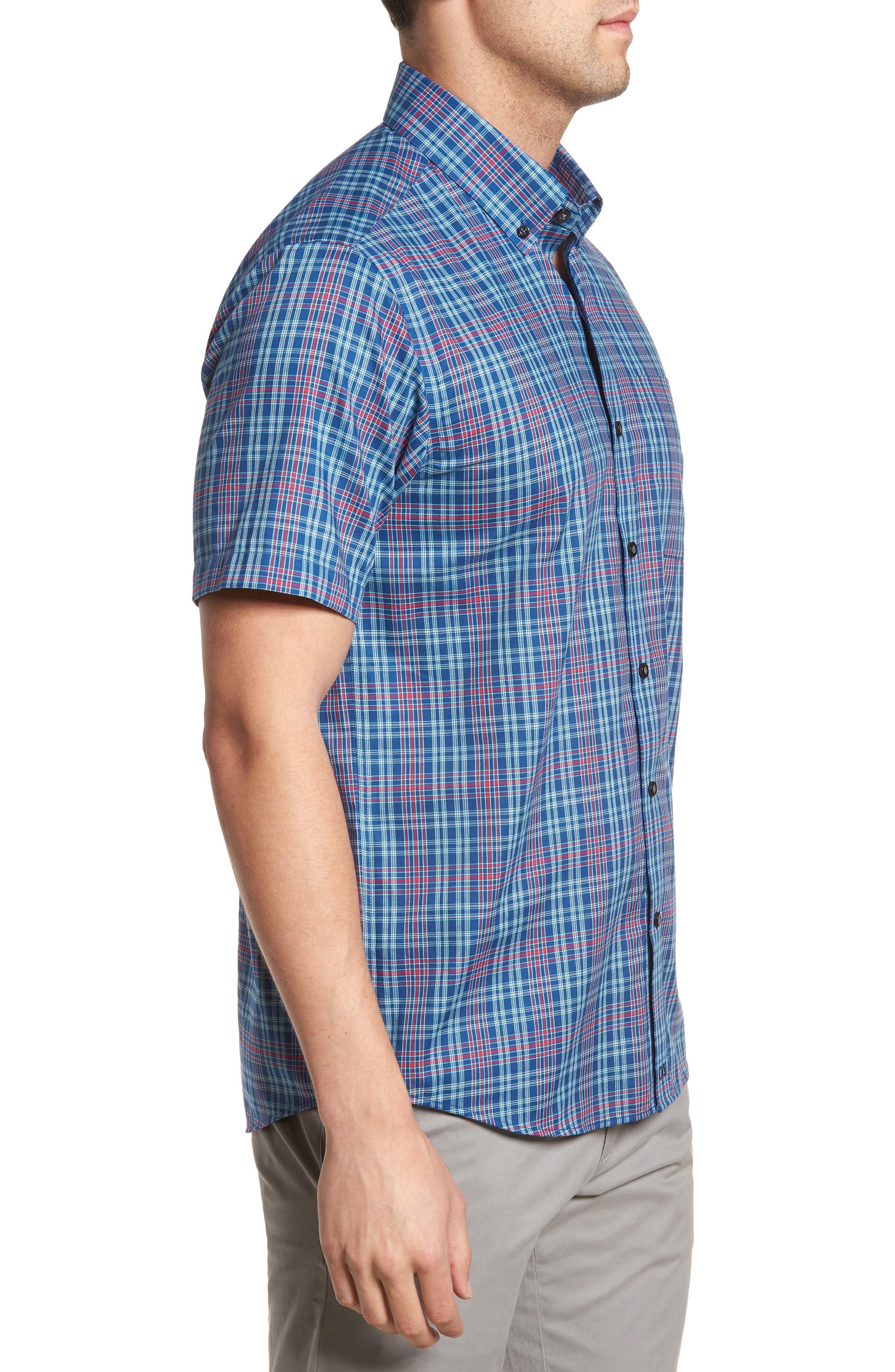 Isaac Plaid Easy Care Woven Shirt,                             Alternate thumbnail 11, color,
