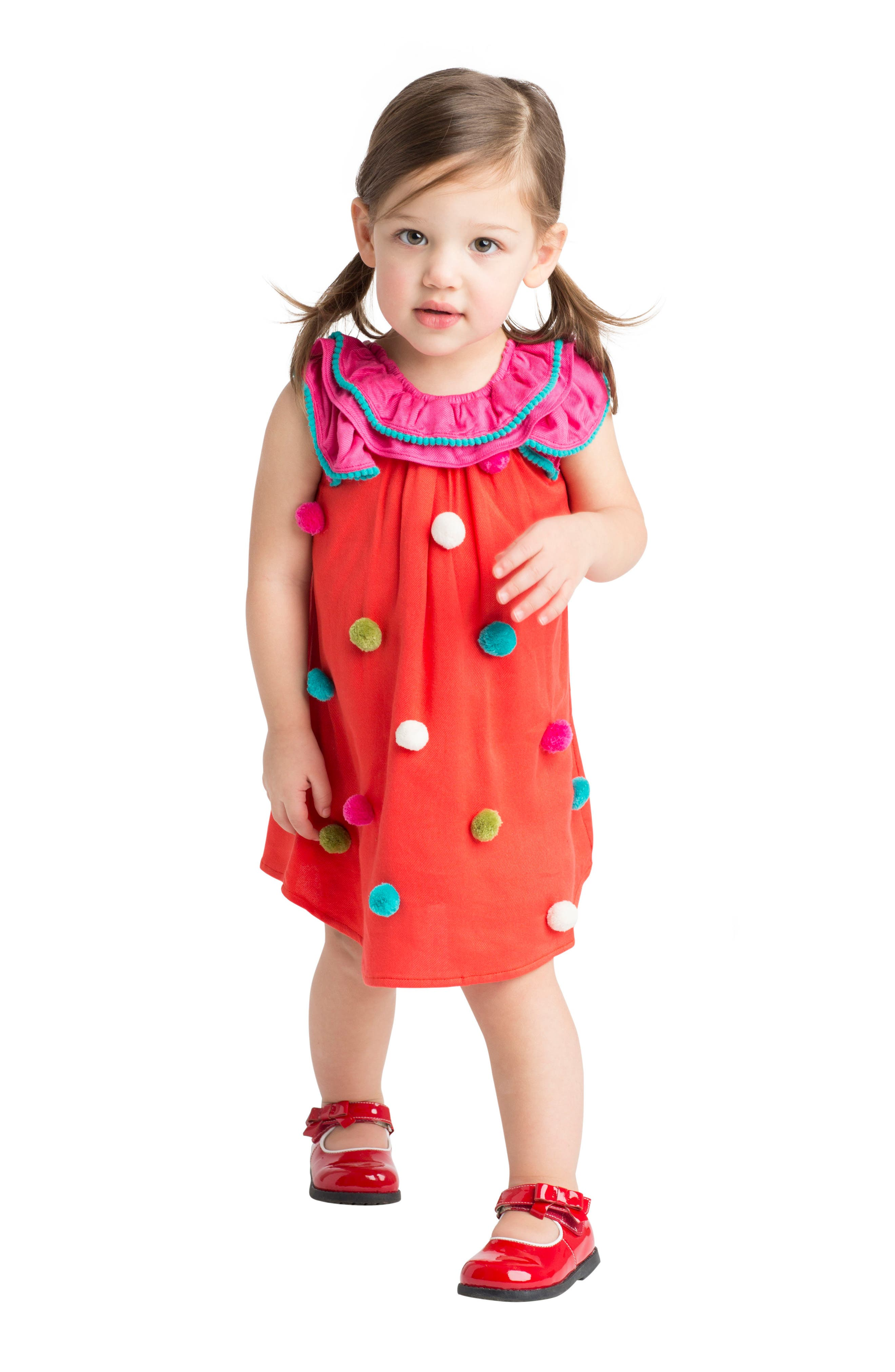 Pompom Dress,                             Alternate thumbnail 6, color,                             950