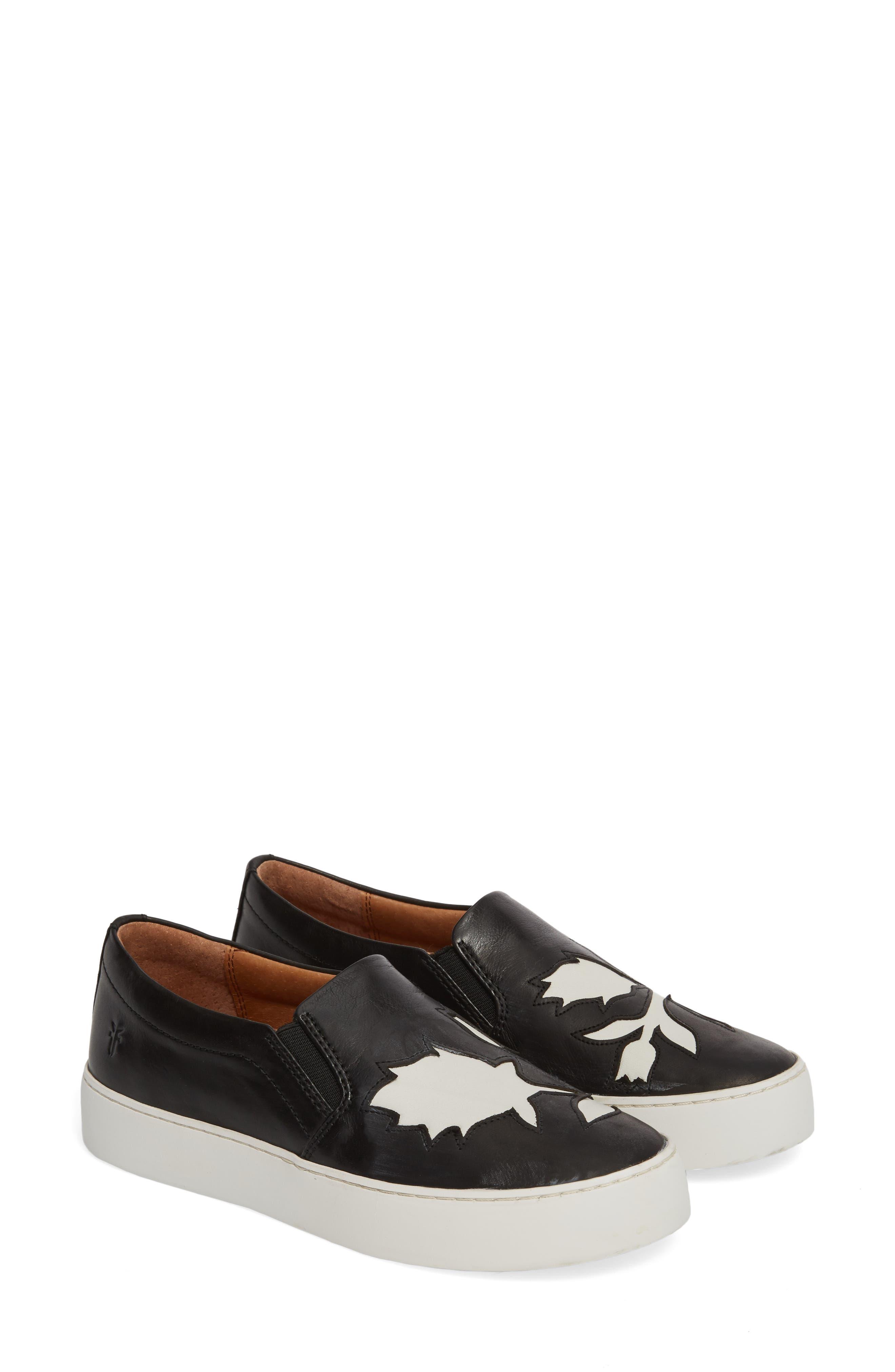 Lena Floral Slip-On Sneaker,                             Alternate thumbnail 2, color,                             001