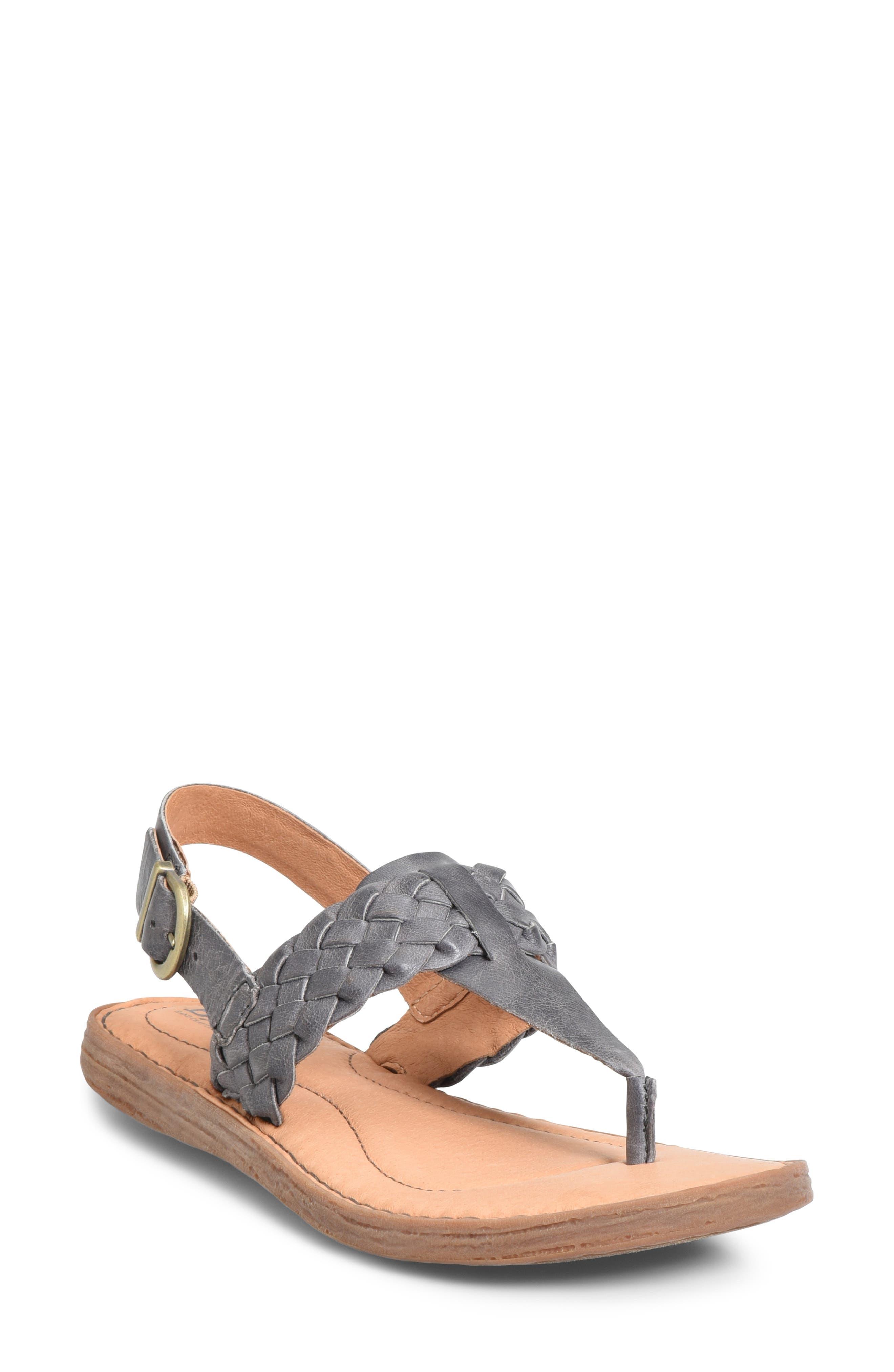 B?rn Sumter Braided Sandal, Grey