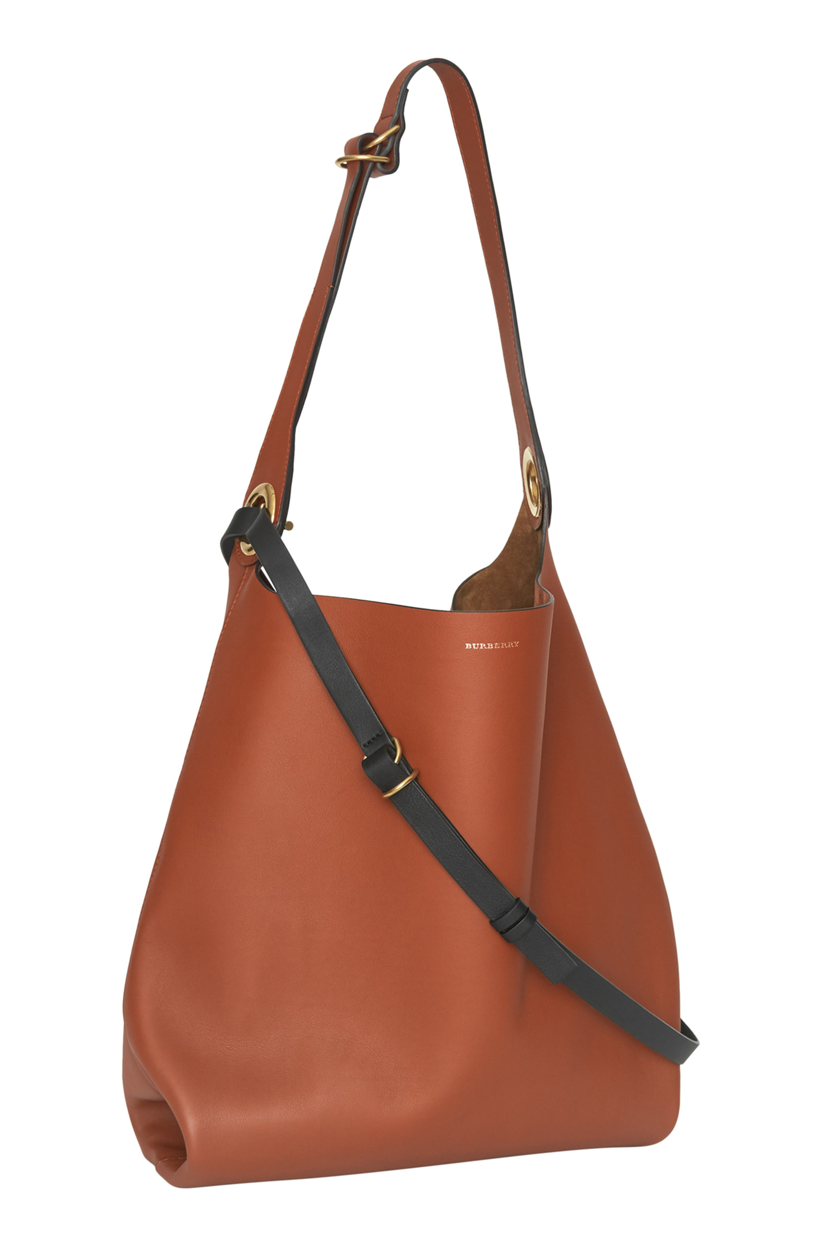 Grommet Medium Leather Hobo,                             Alternate thumbnail 5, color,                             216