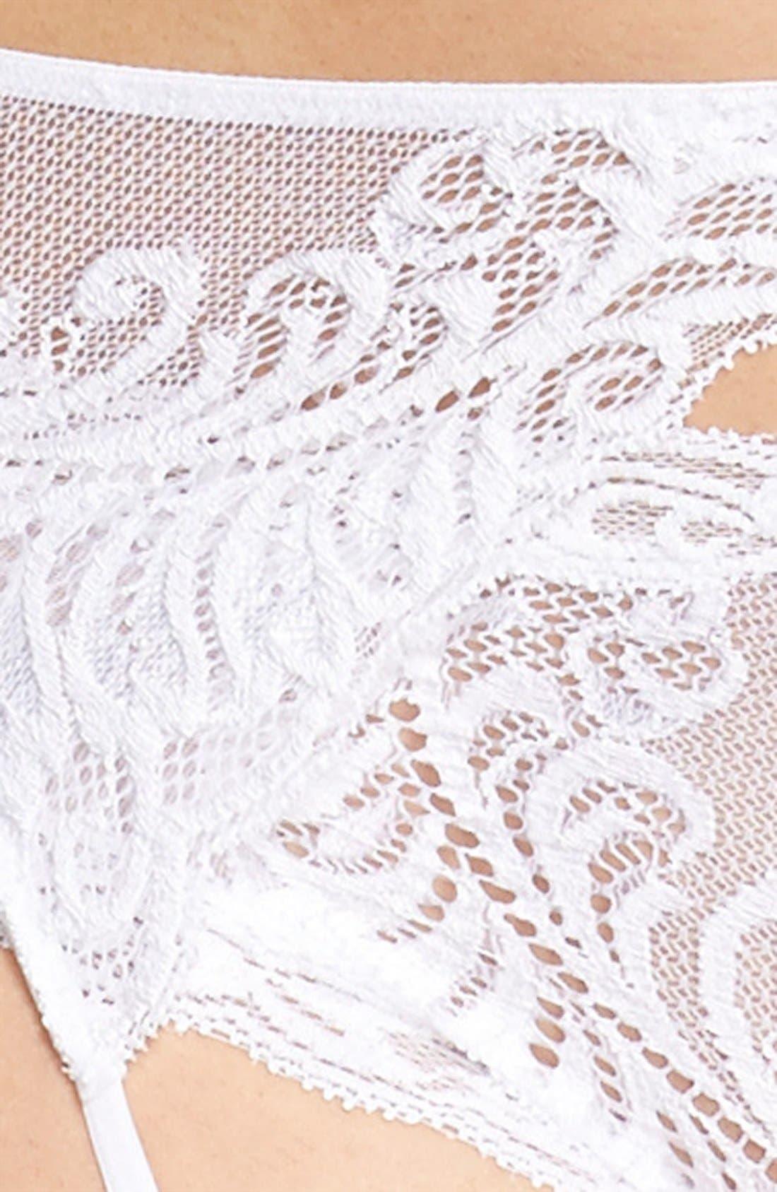 Feathers Garter Belt,                             Alternate thumbnail 16, color,