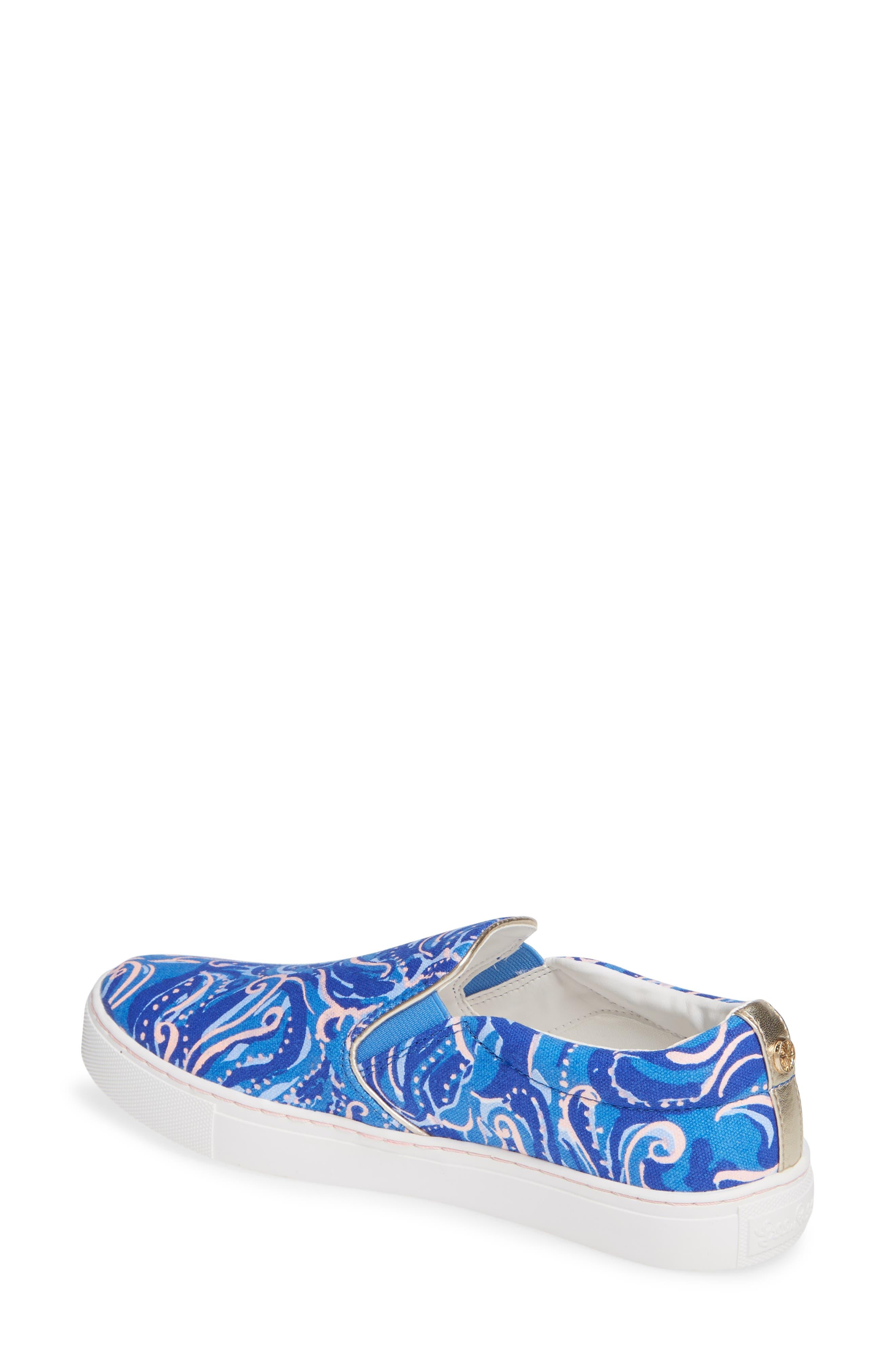 Julie Sneaker,                             Alternate thumbnail 2, color,                             COASTAL BLUE