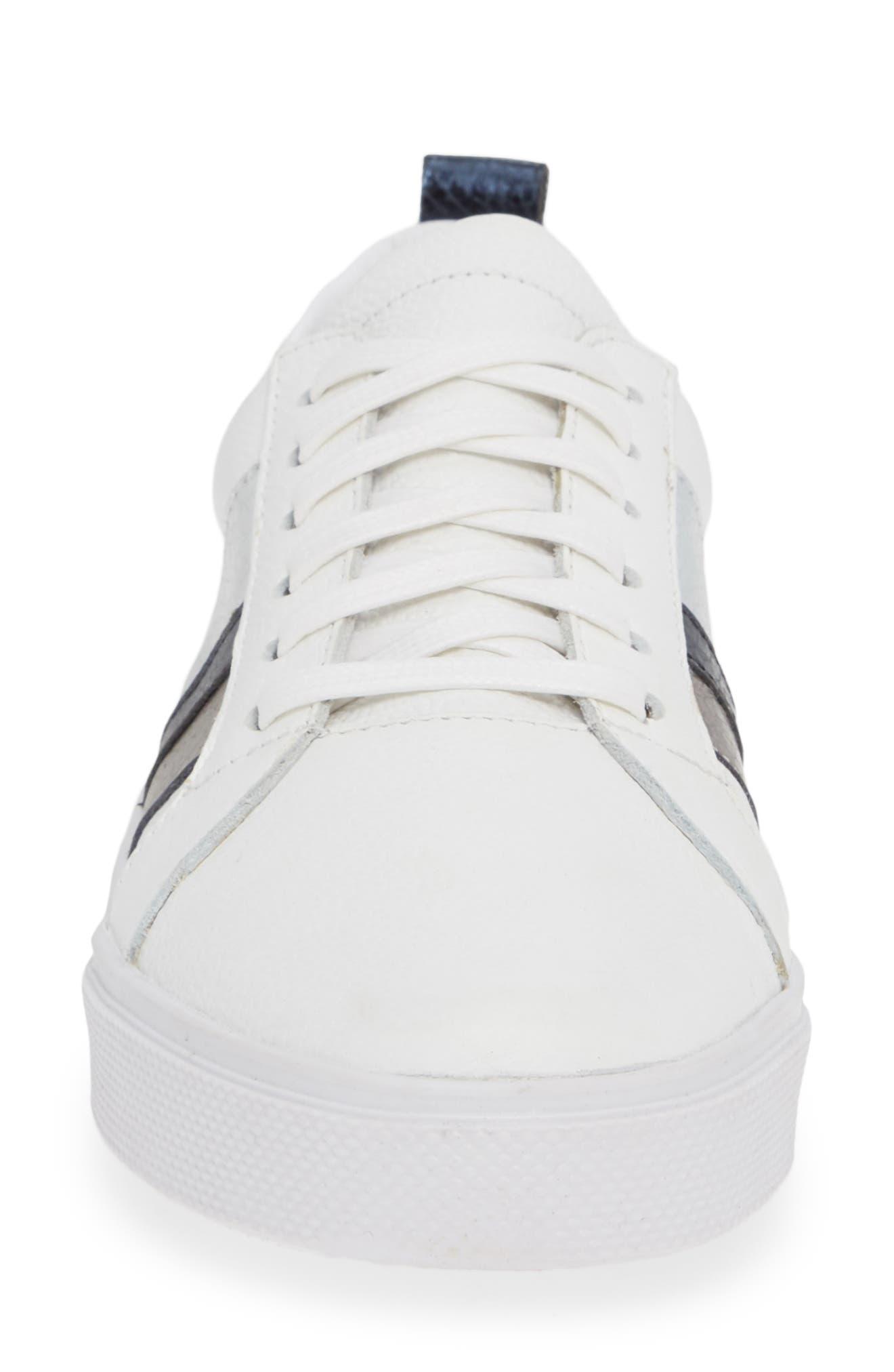 Bristol Sneaker,                             Alternate thumbnail 4, color,                             BLUE LEATHER
