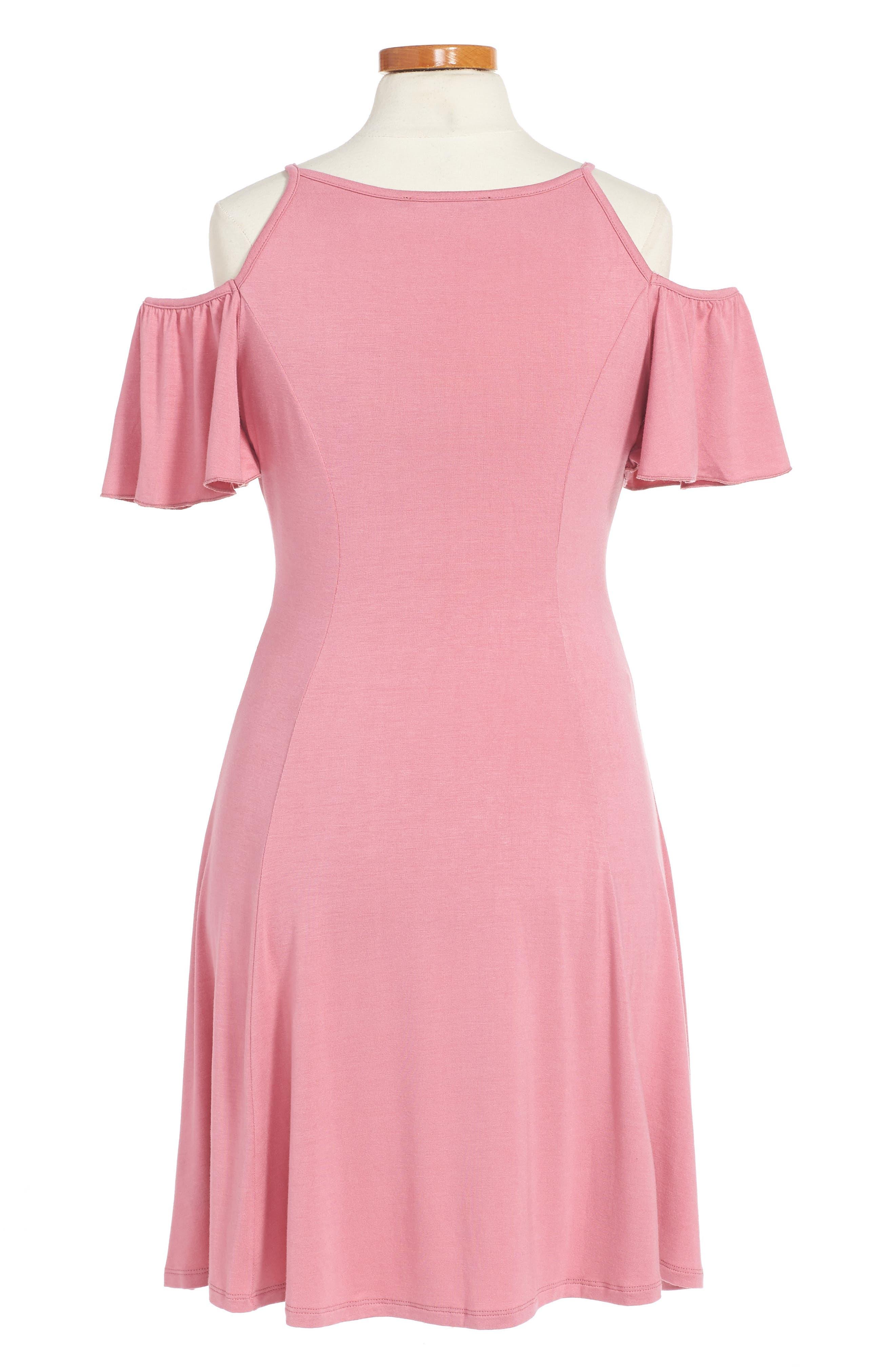 Abigail Cold Shoulder Dress,                             Alternate thumbnail 4, color,
