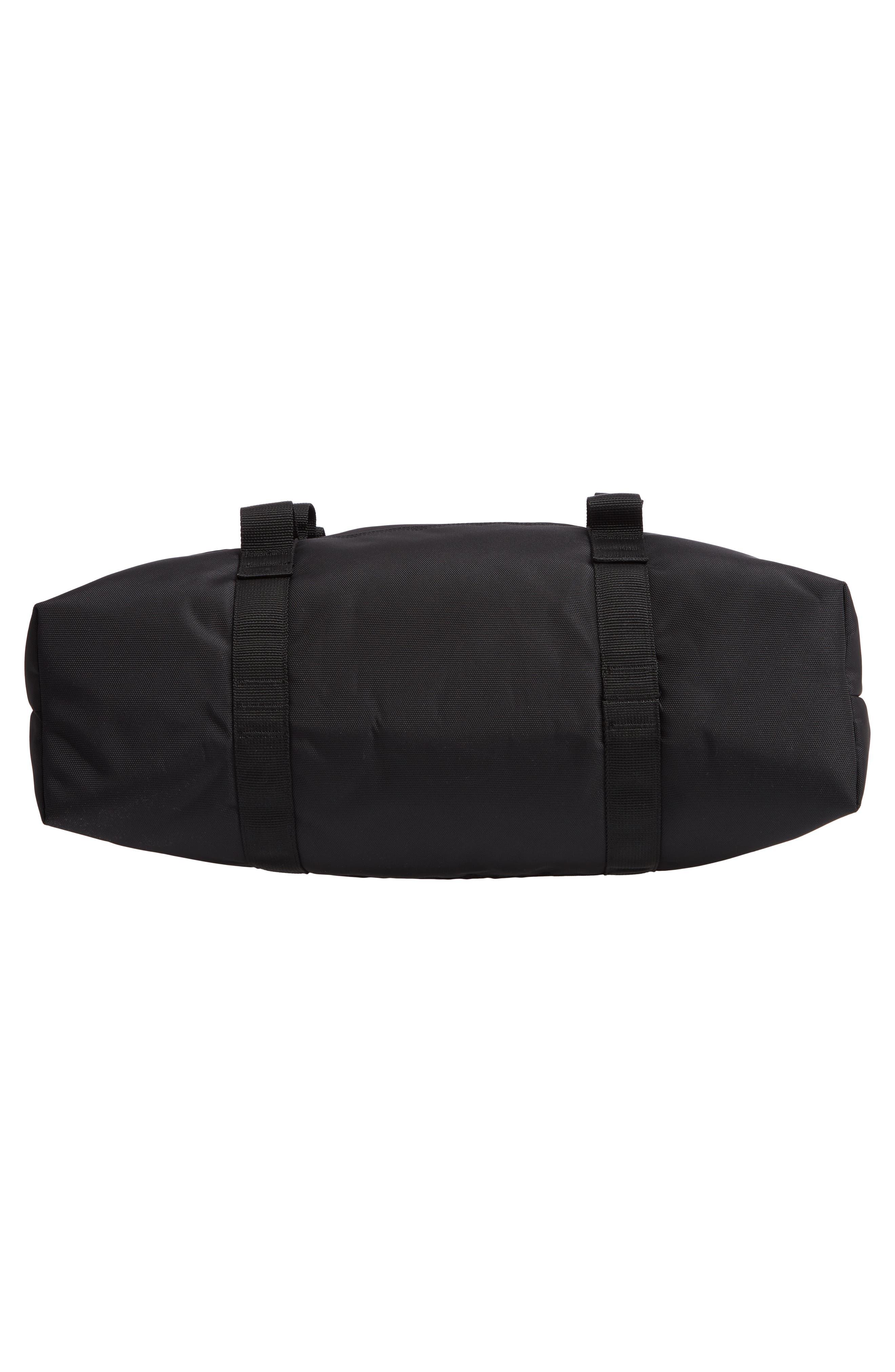 Military Shopper Tote Bag,                             Alternate thumbnail 6, color,                             BLACK / BLACK