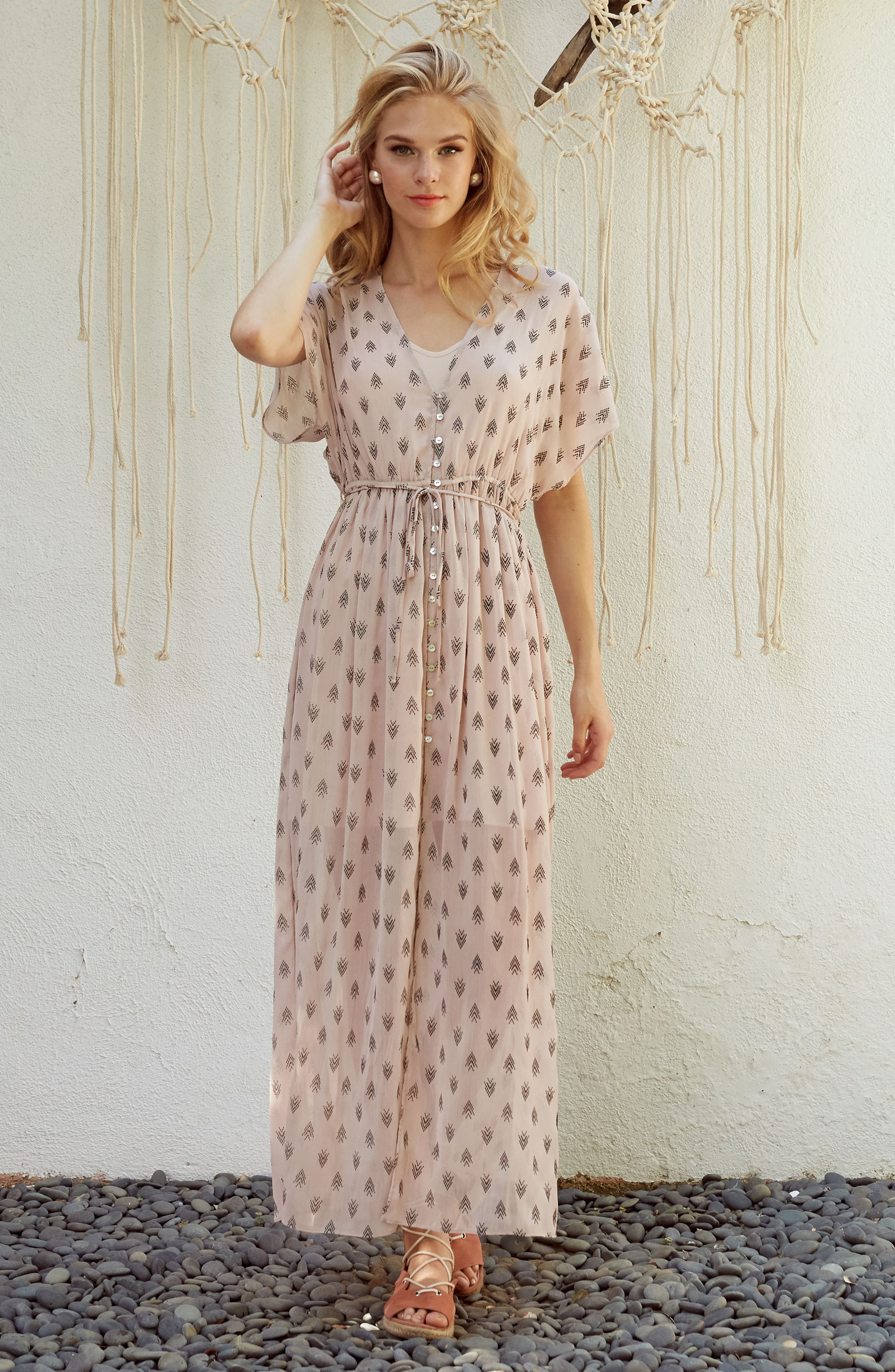 Brooke Slit Hem Dress,                             Alternate thumbnail 7, color,