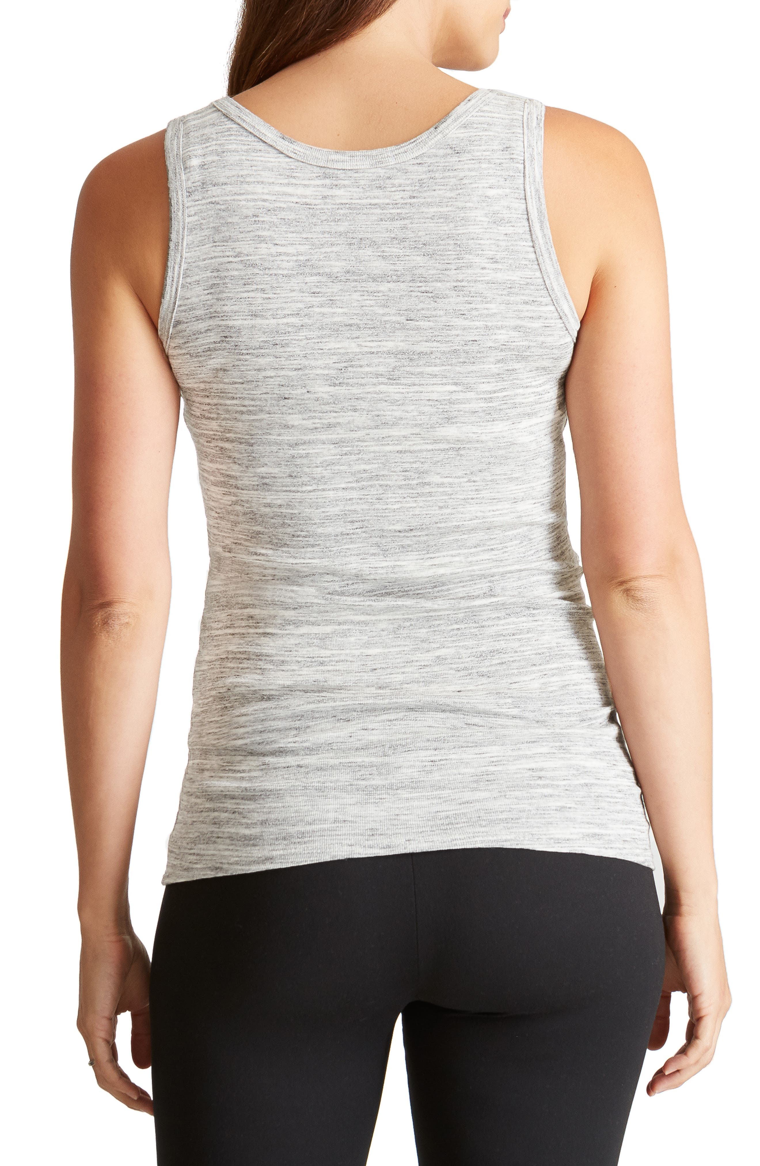 Scoop Neck Maternity Tank,                             Alternate thumbnail 2, color,                             GREY SWEPT MARBLE