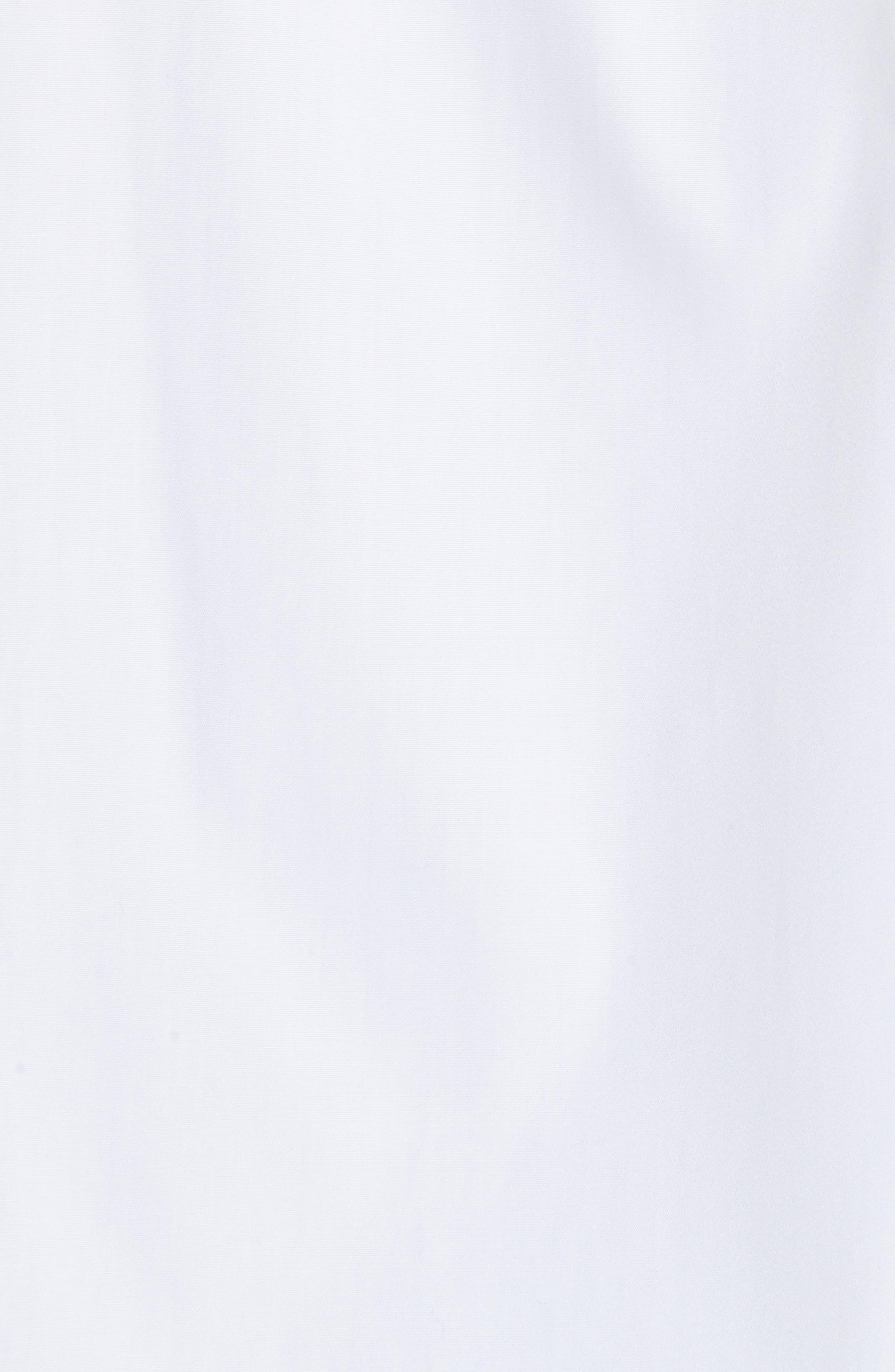 Crop Cotton Shirt,                             Alternate thumbnail 5, color,                             100