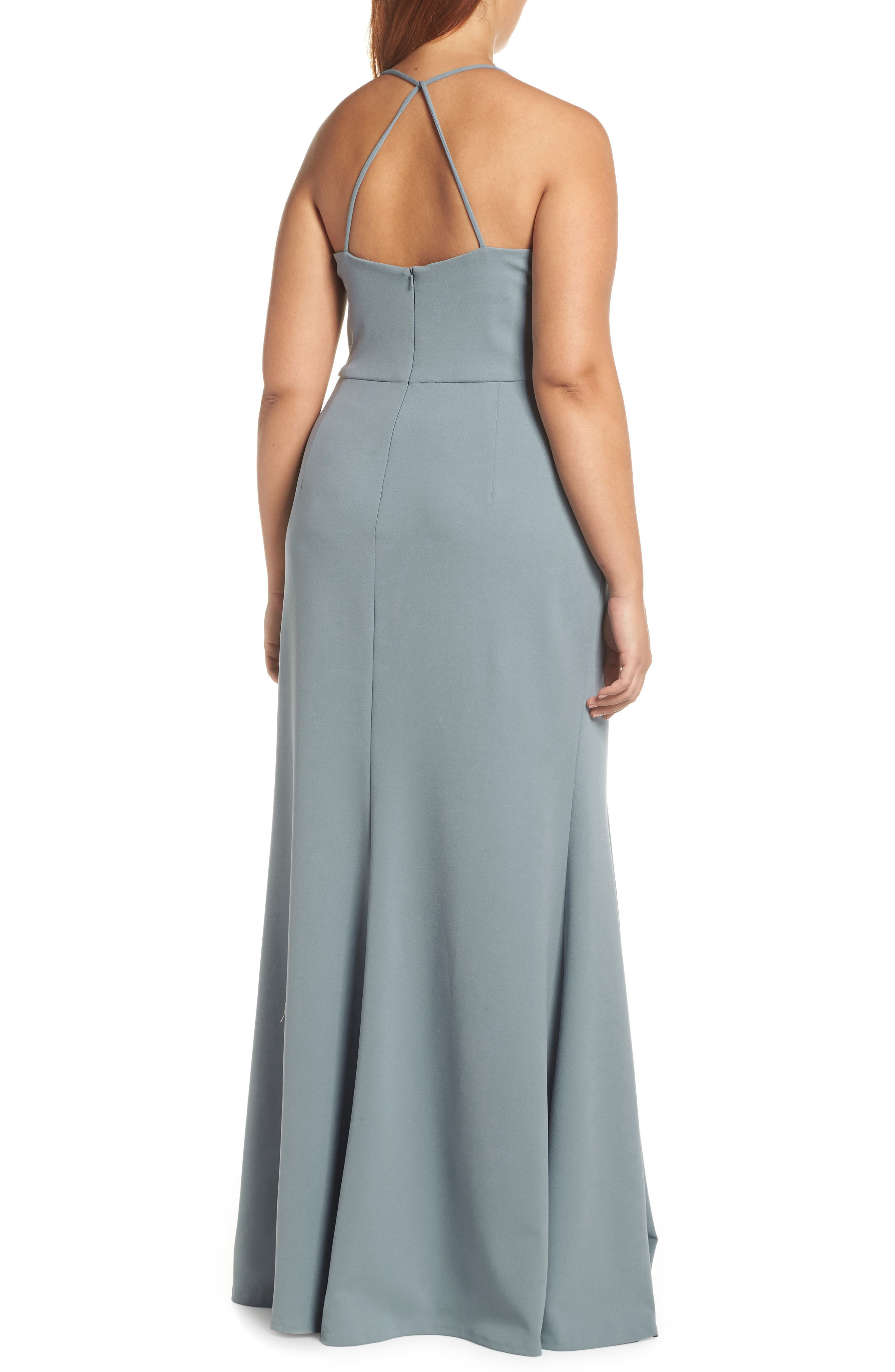 Reese Crepe Knit Gown,                             Alternate thumbnail 10, color,                             MAYAN BLUE