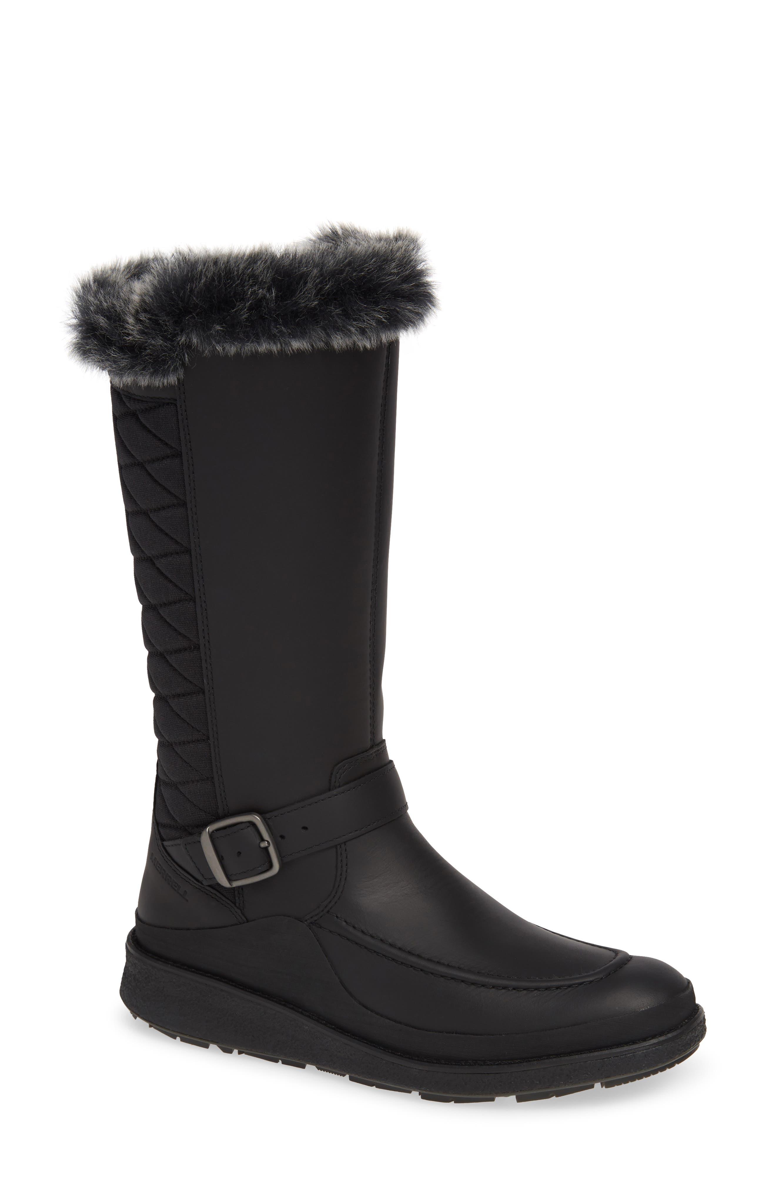 Merrell Tremblant Ezra Polar Waterproof Boot With Faux Fur Trim