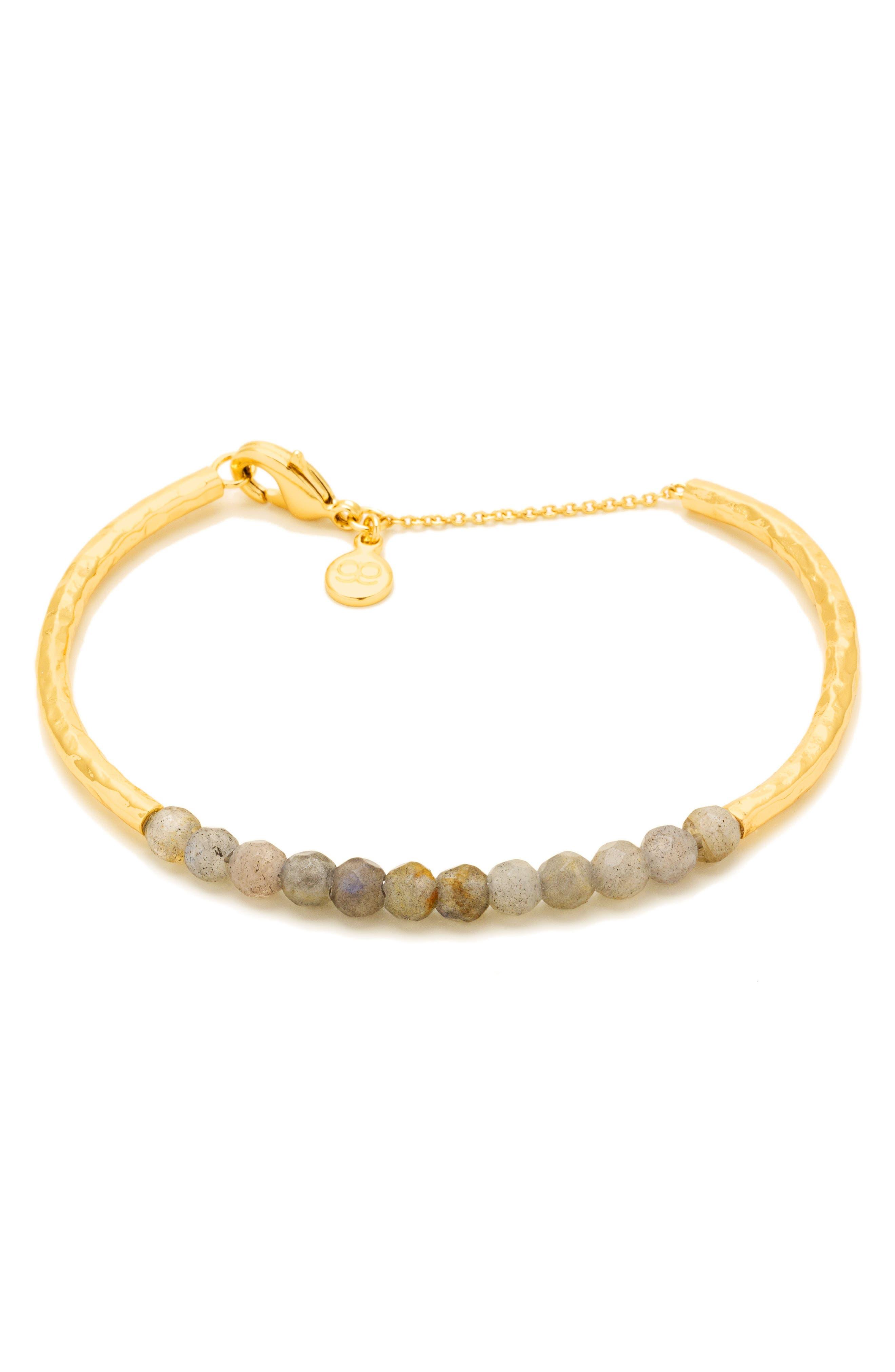Power Stone Semiprecious Beaded Bracelet,                             Main thumbnail 4, color,