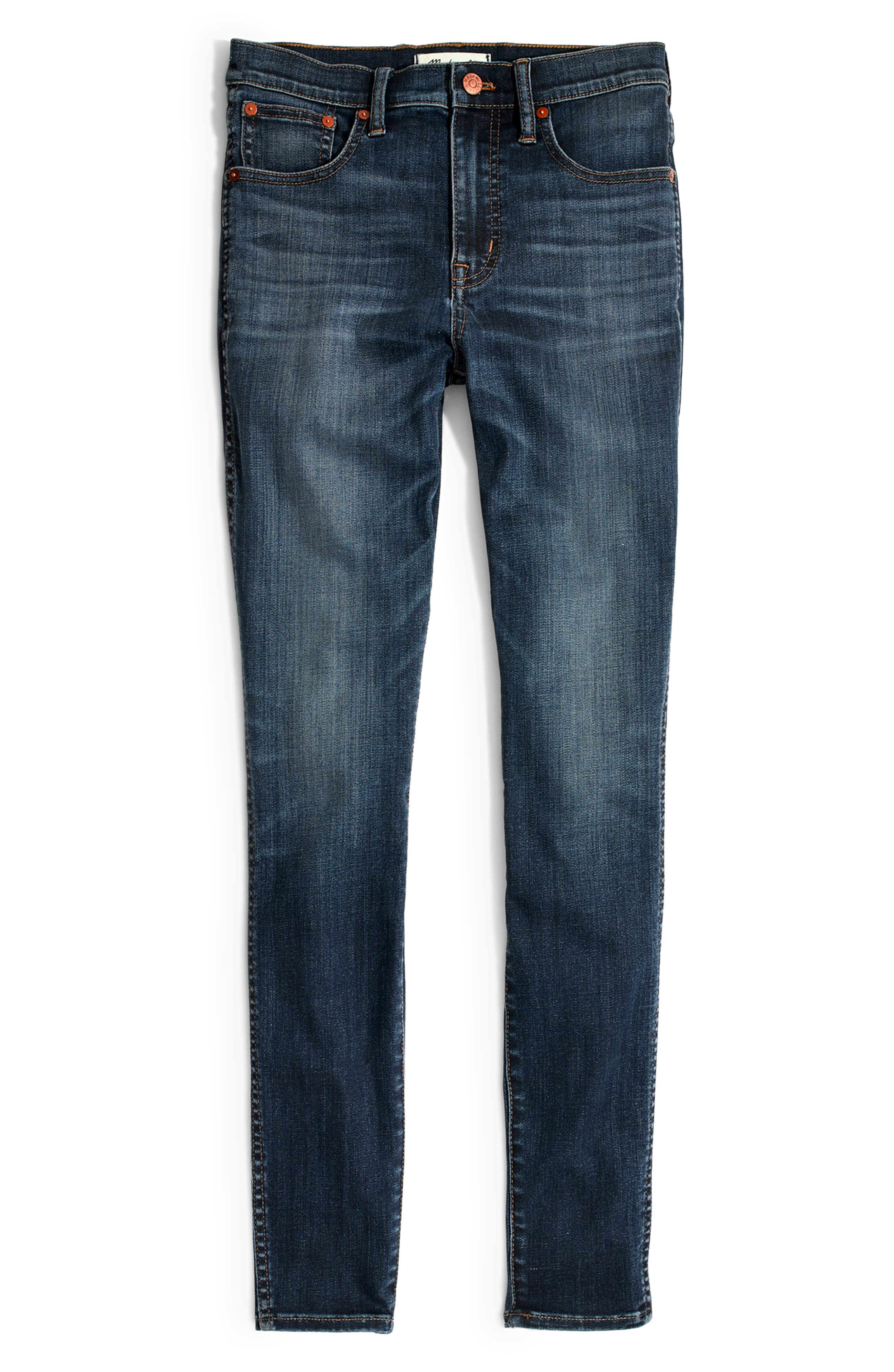10-Inch High Rise Skinny Jeans,                             Alternate thumbnail 8, color,                             DANNY