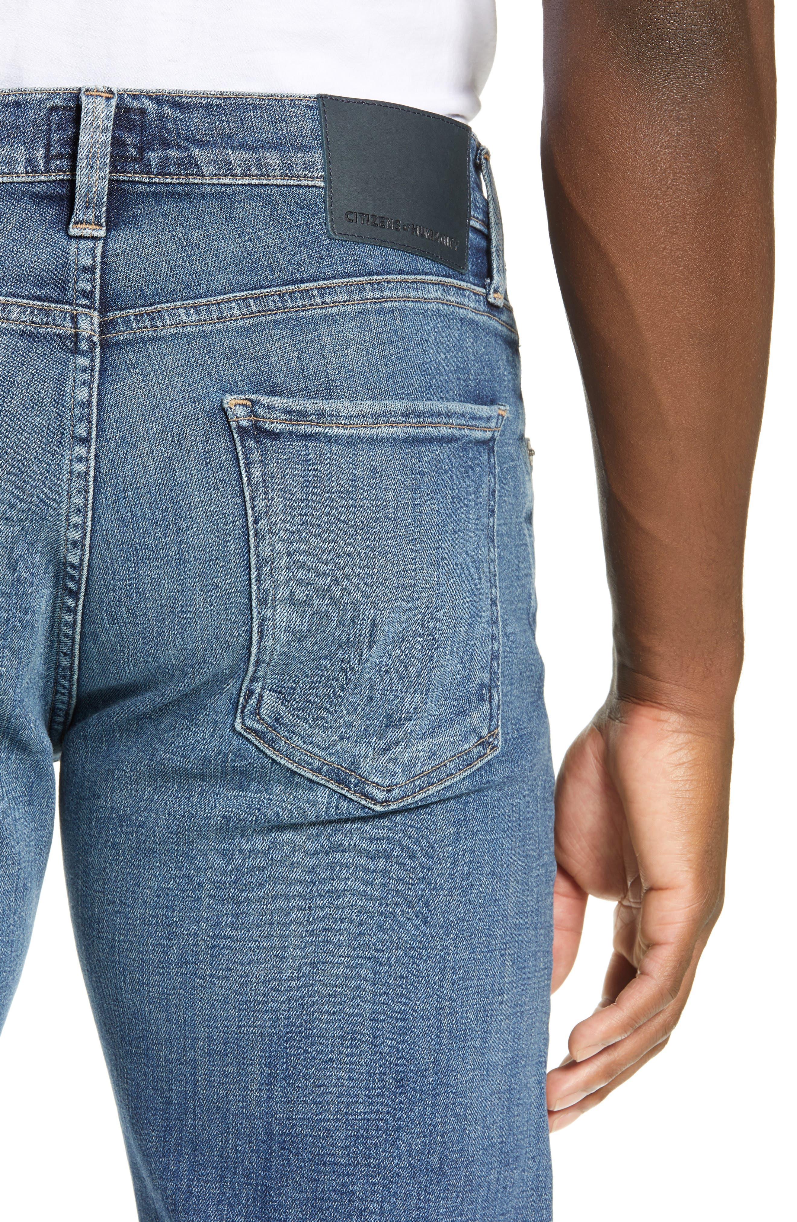 Sid Straight Leg Jeans,                             Alternate thumbnail 4, color,                             AURORA