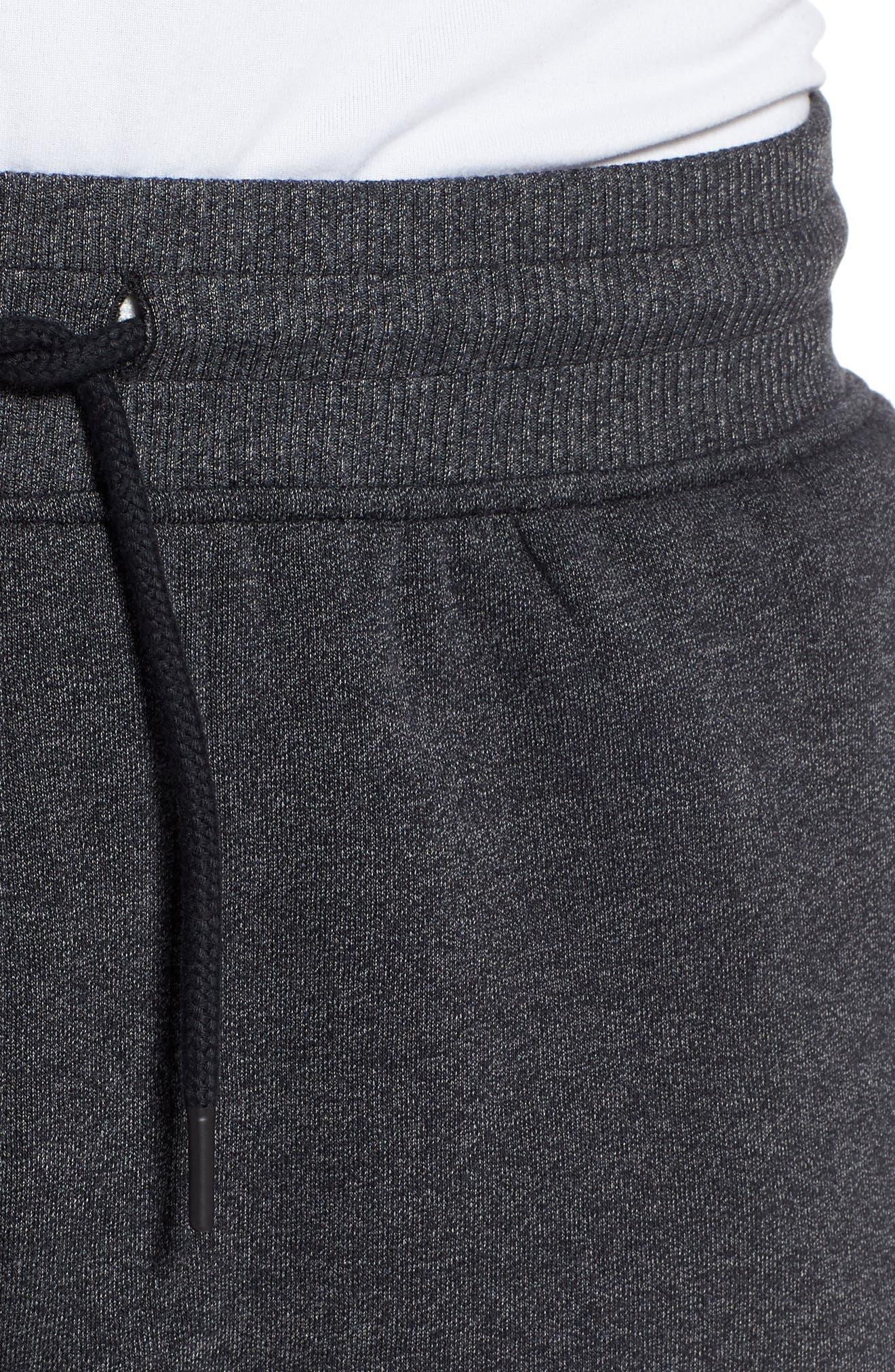 Threadborne Jogger Pants,                             Alternate thumbnail 4, color,                             BLACK/ BLACK