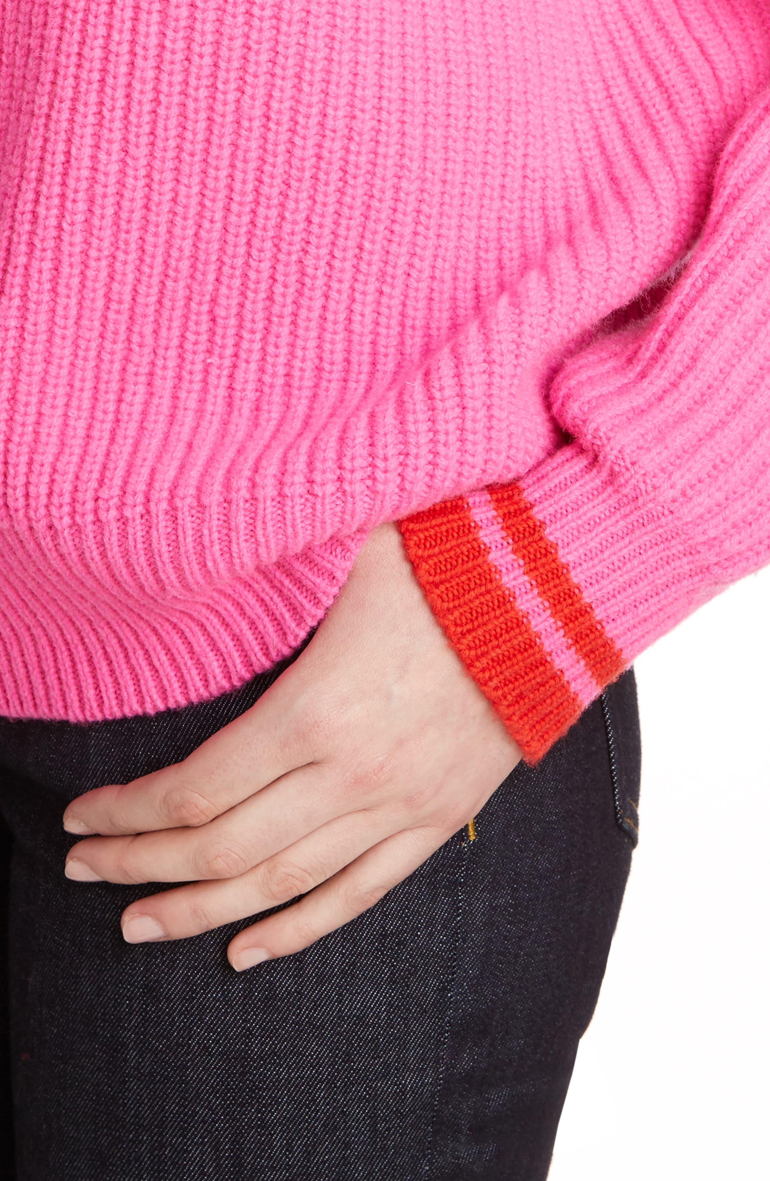 Lambswool Boyfriend Sweater,                             Alternate thumbnail 4, color,                             650