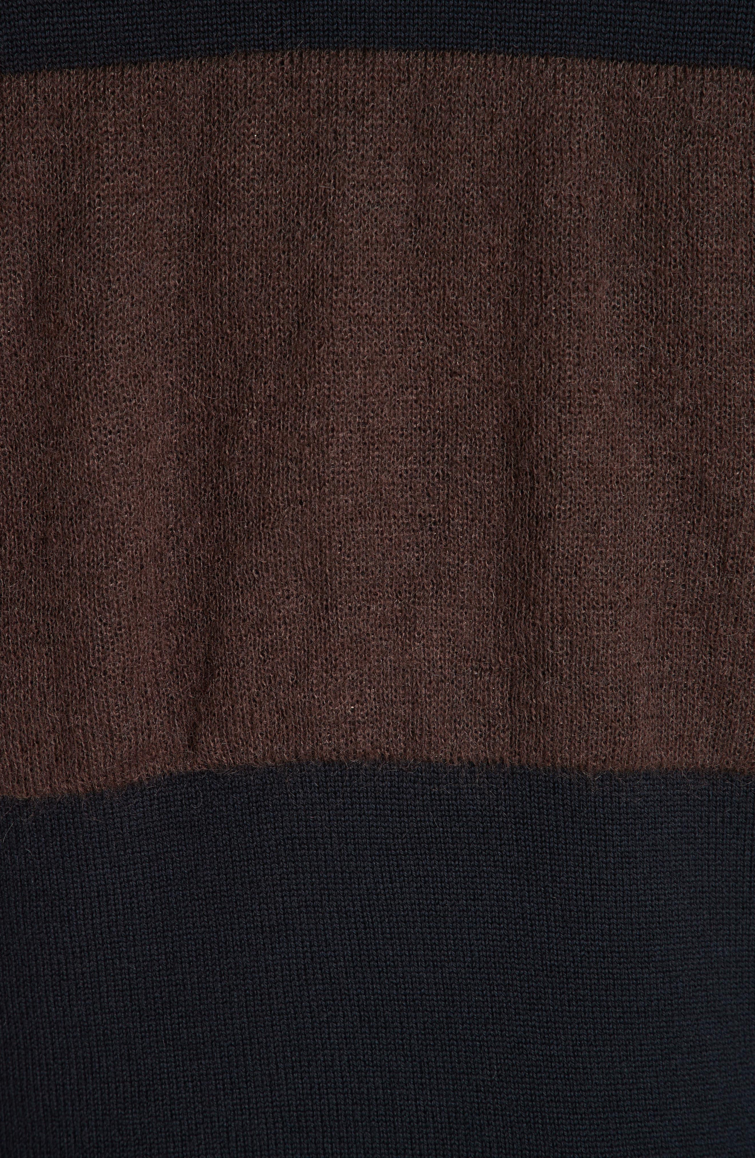 Stripe Sweater,                             Alternate thumbnail 5, color,                             NAVY