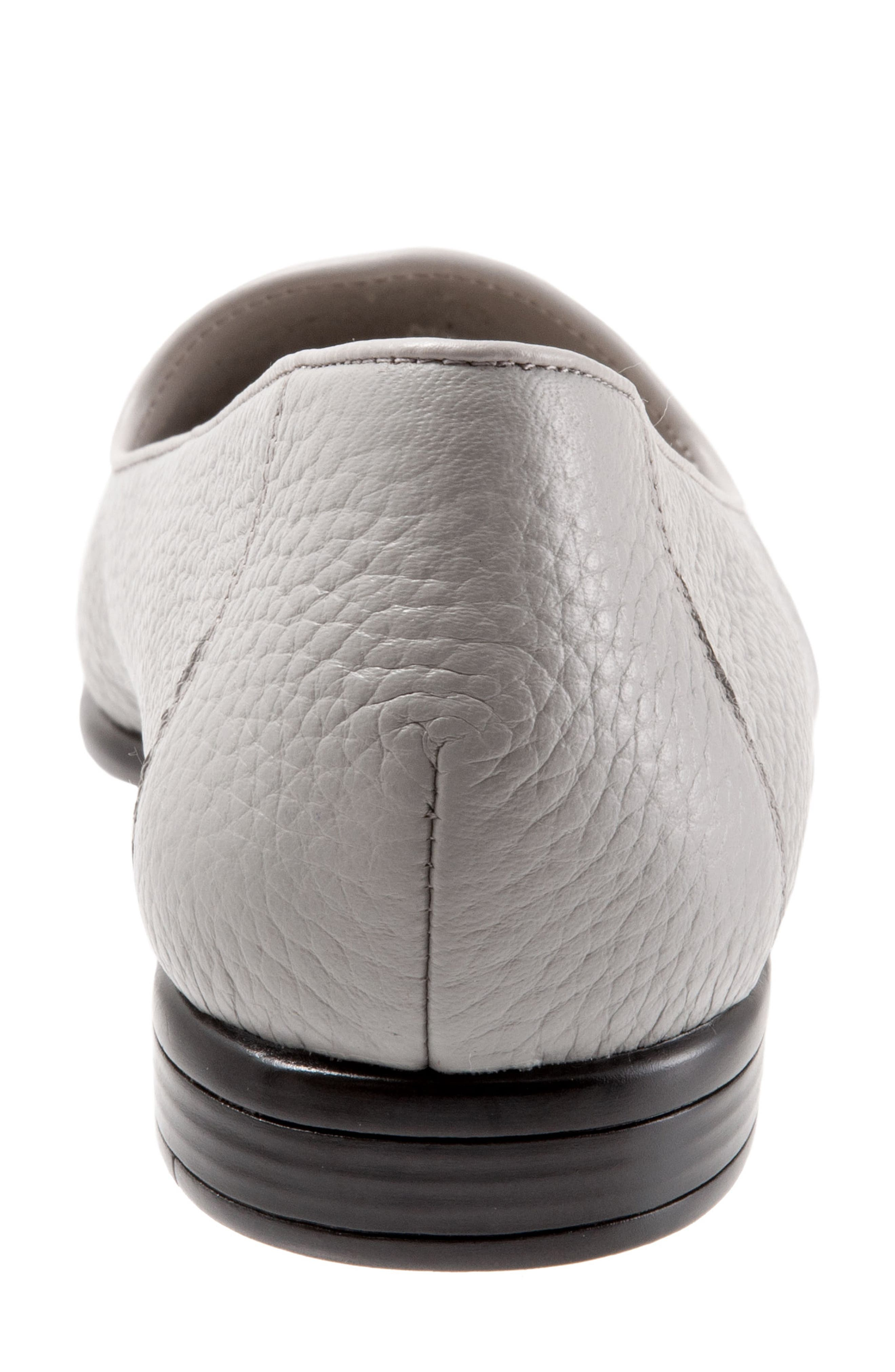 TROTTERS,                             Liz Loafer,                             Alternate thumbnail 7, color,                             GREY LEATHER