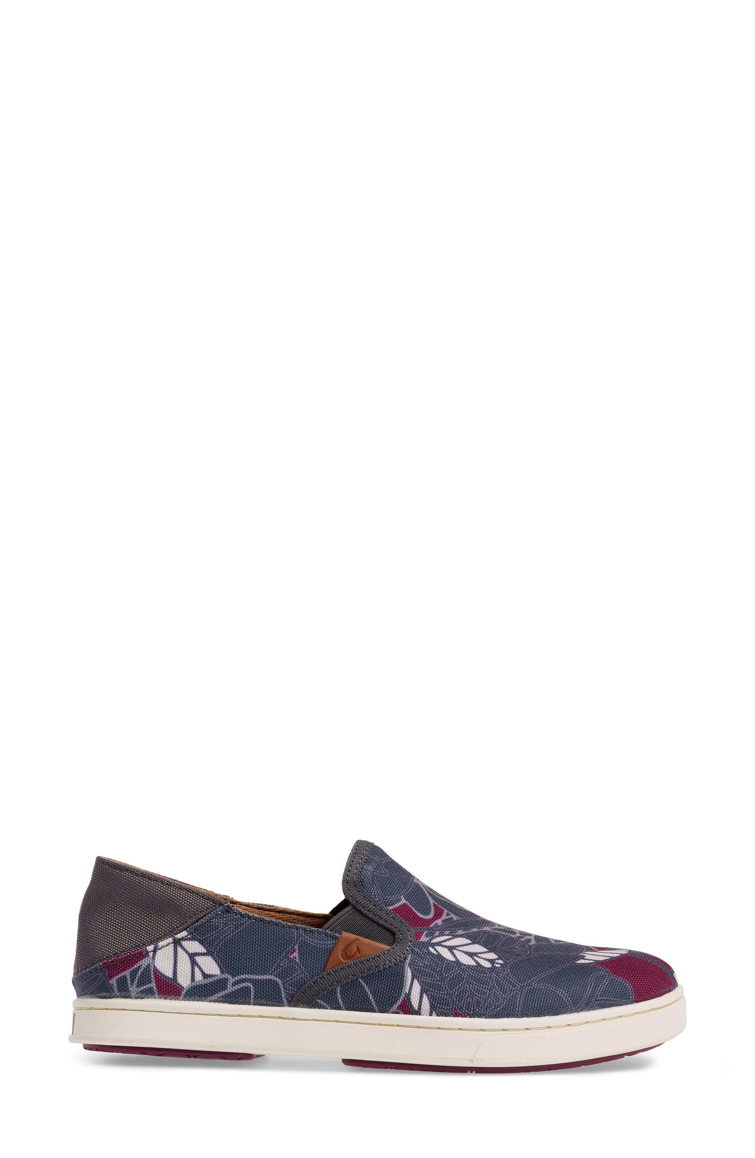 Pehuea Print Slip-On Sneaker,                             Alternate thumbnail 3, color,                             027