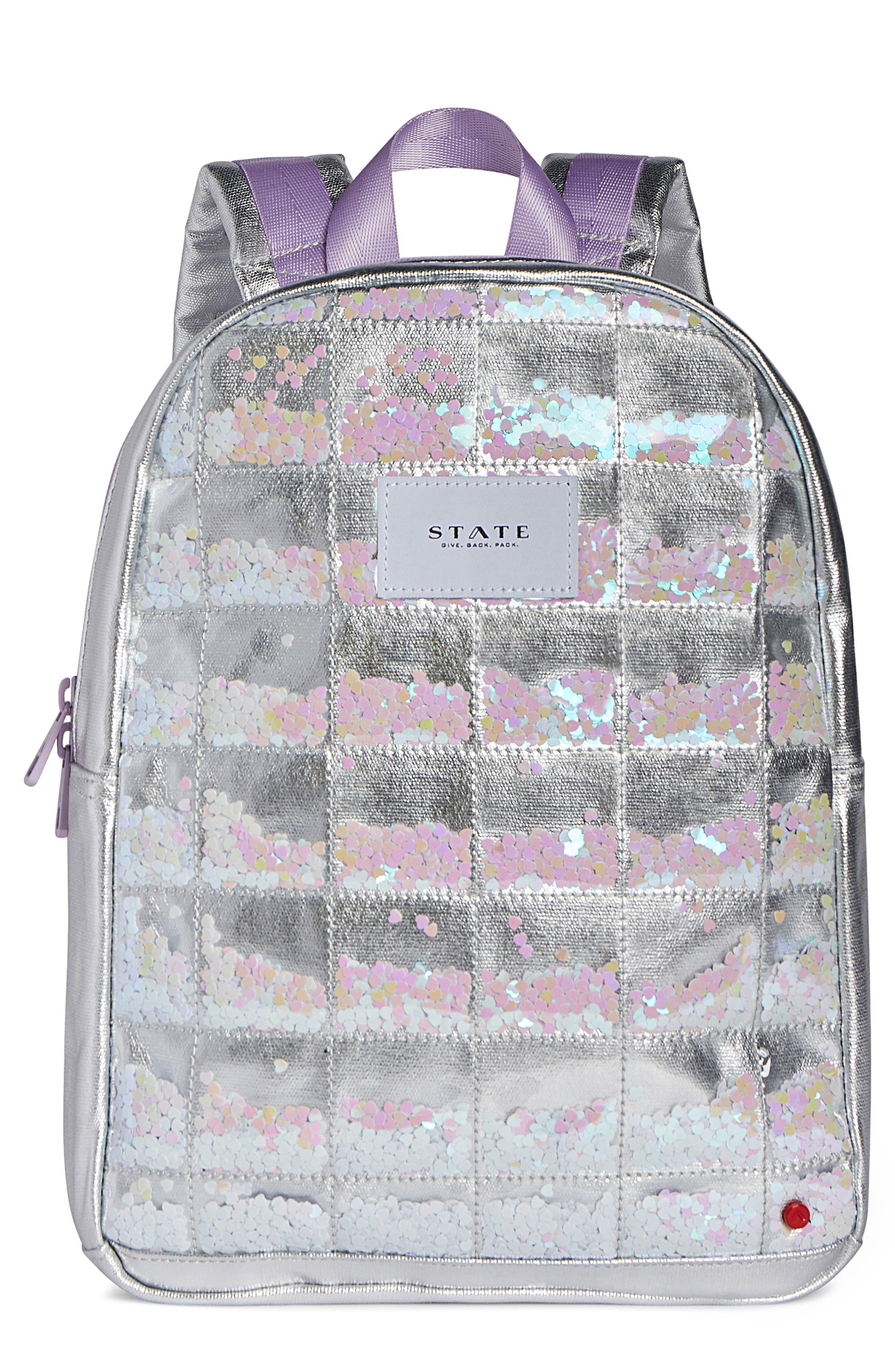Girls State Bags Mini Kane Confetti Glitter Backpack  Metallic