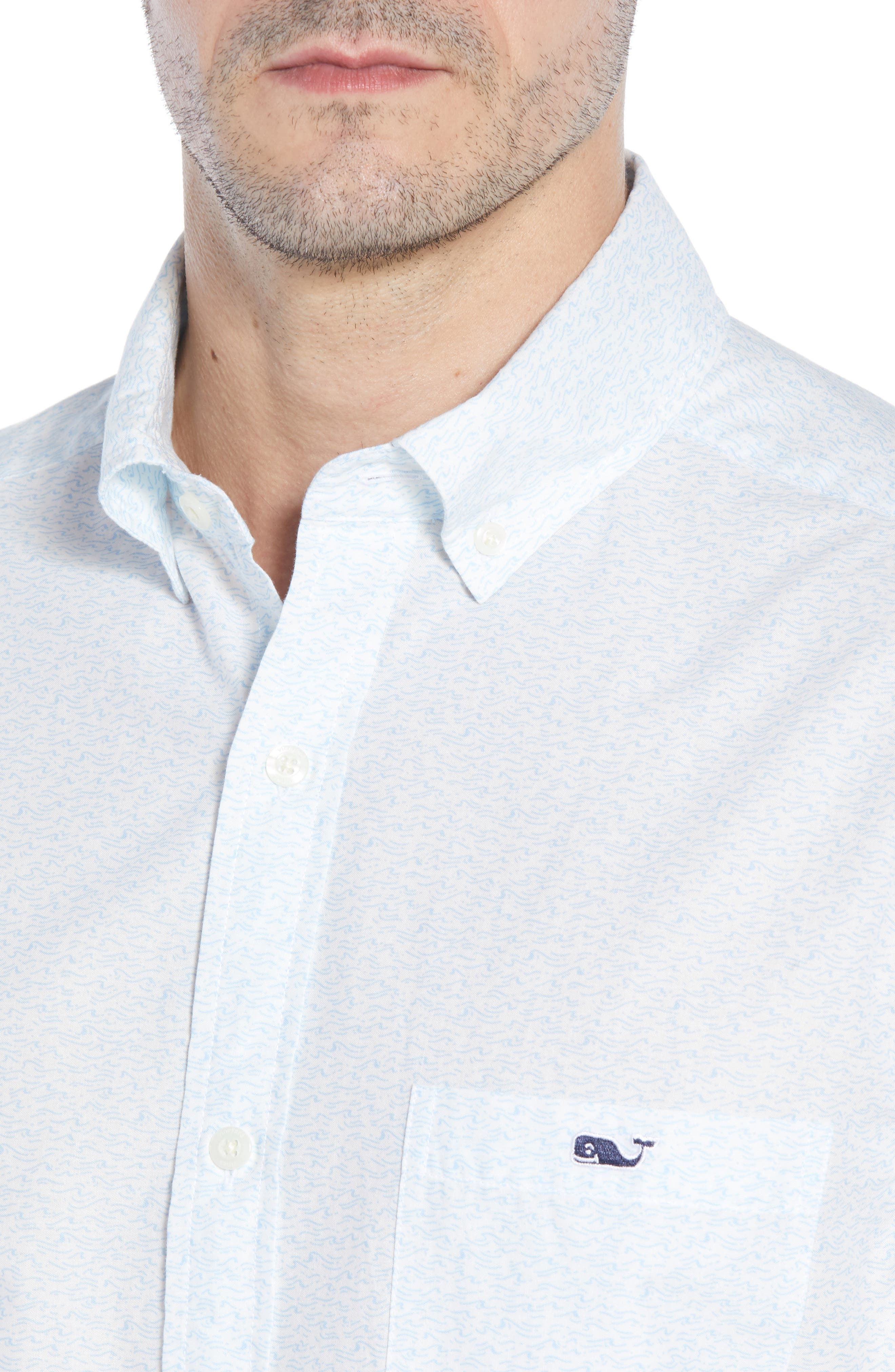 Cape Codder Slim Tucker Sport Shirt,                             Alternate thumbnail 4, color,                             100