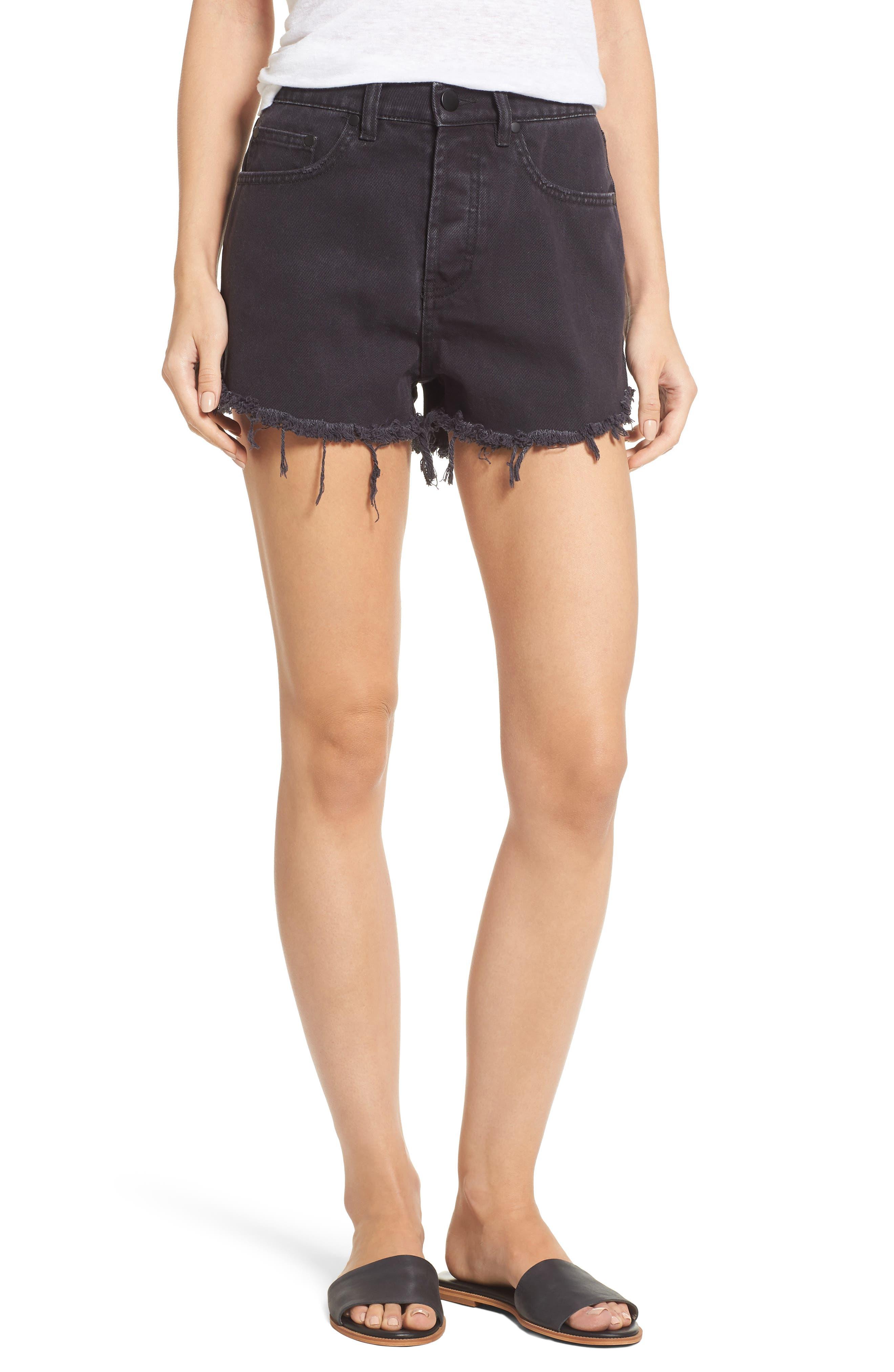 LOVE LIKE SUMMER X BILLABONG Denim Shorts, Main, color, 001