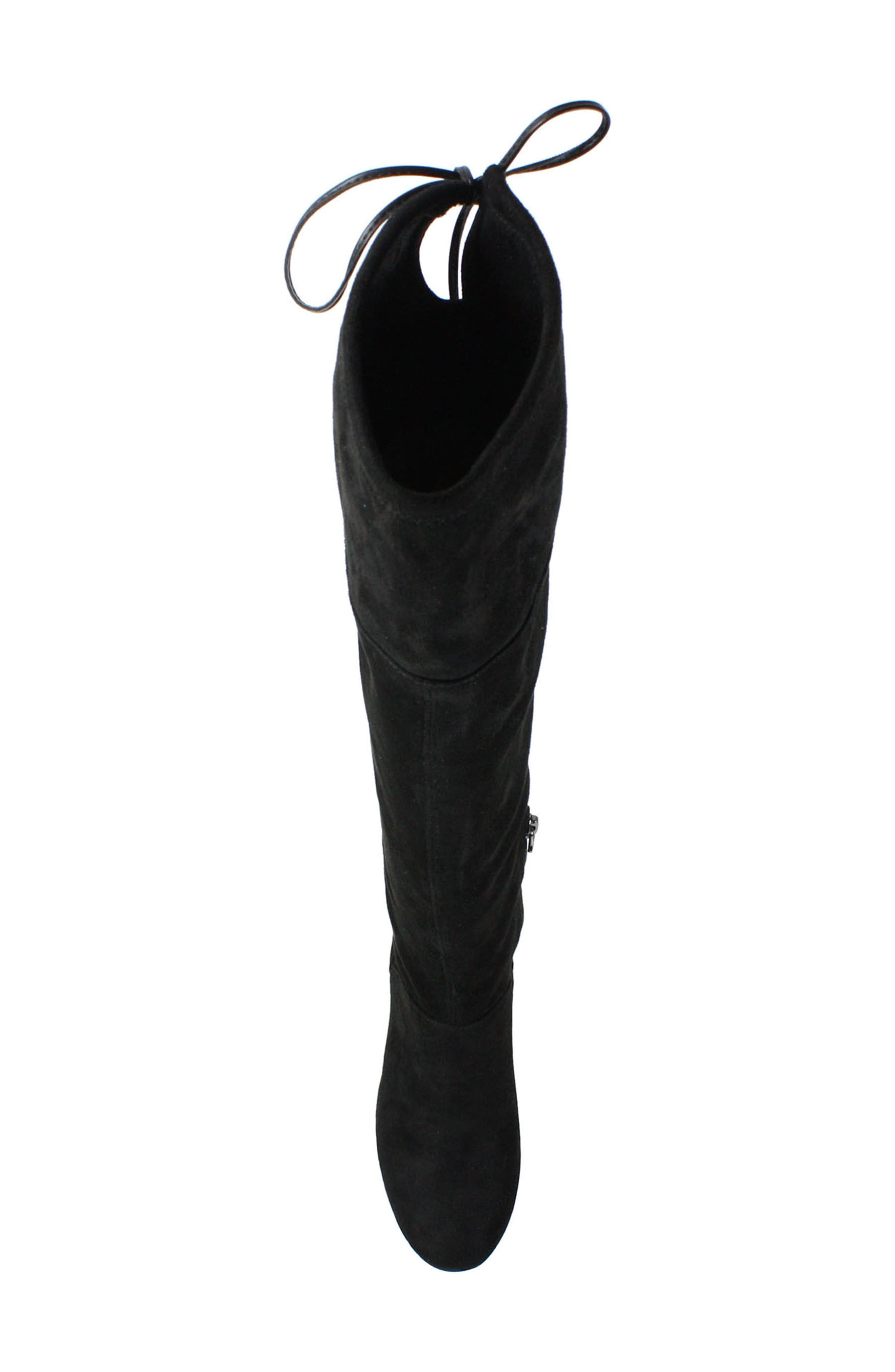 Calcari Over the Knee Boot,                             Alternate thumbnail 4, color,                             BLACK SUEDE