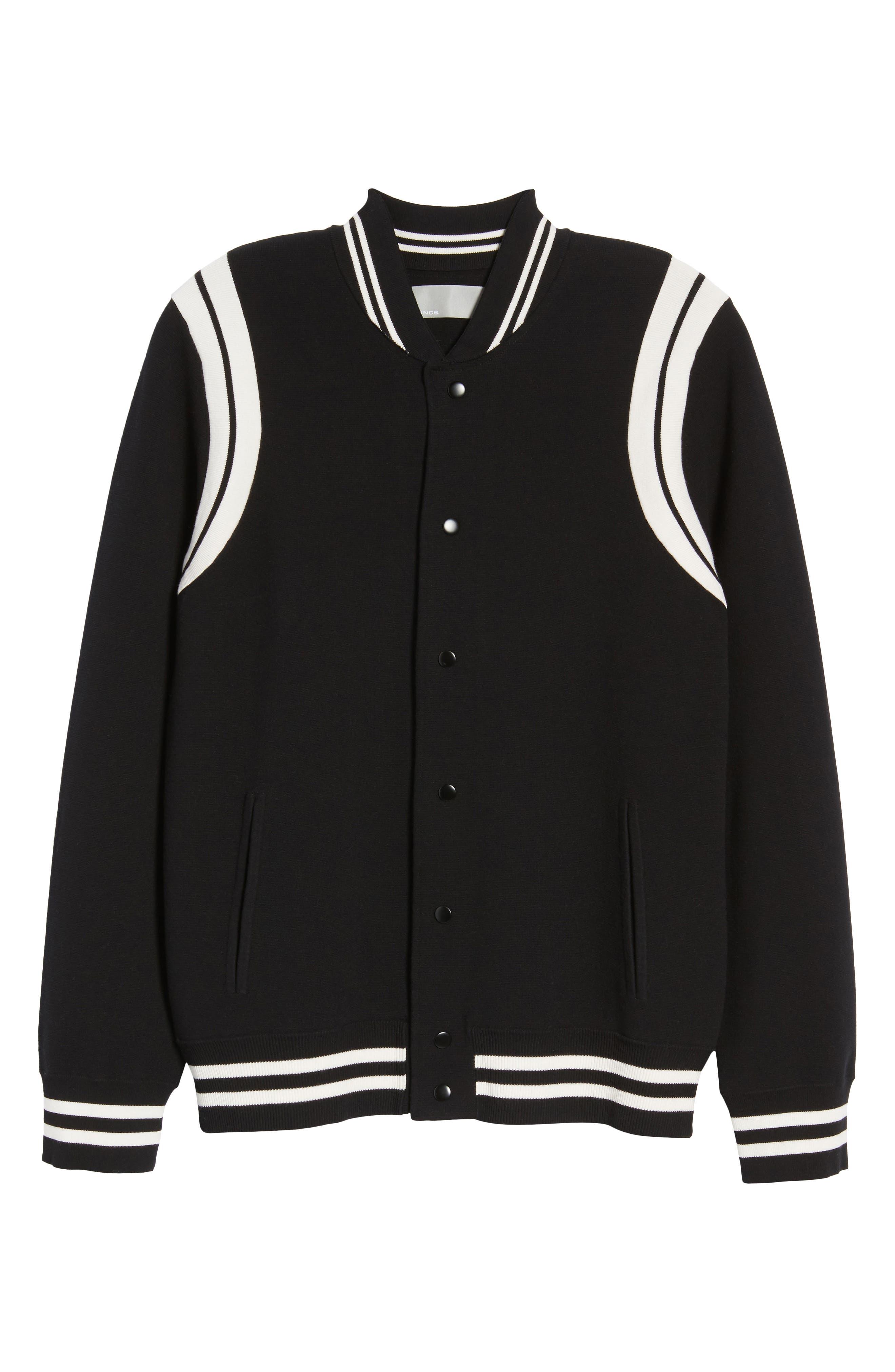 Varsity Regular Fit Jacket,                             Alternate thumbnail 5, color,                             001