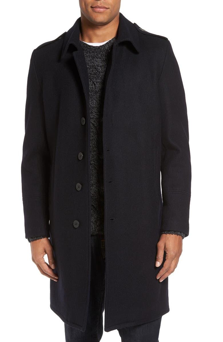 09c3a95e8a1a Schott NYC Wool Blend Officer Coat