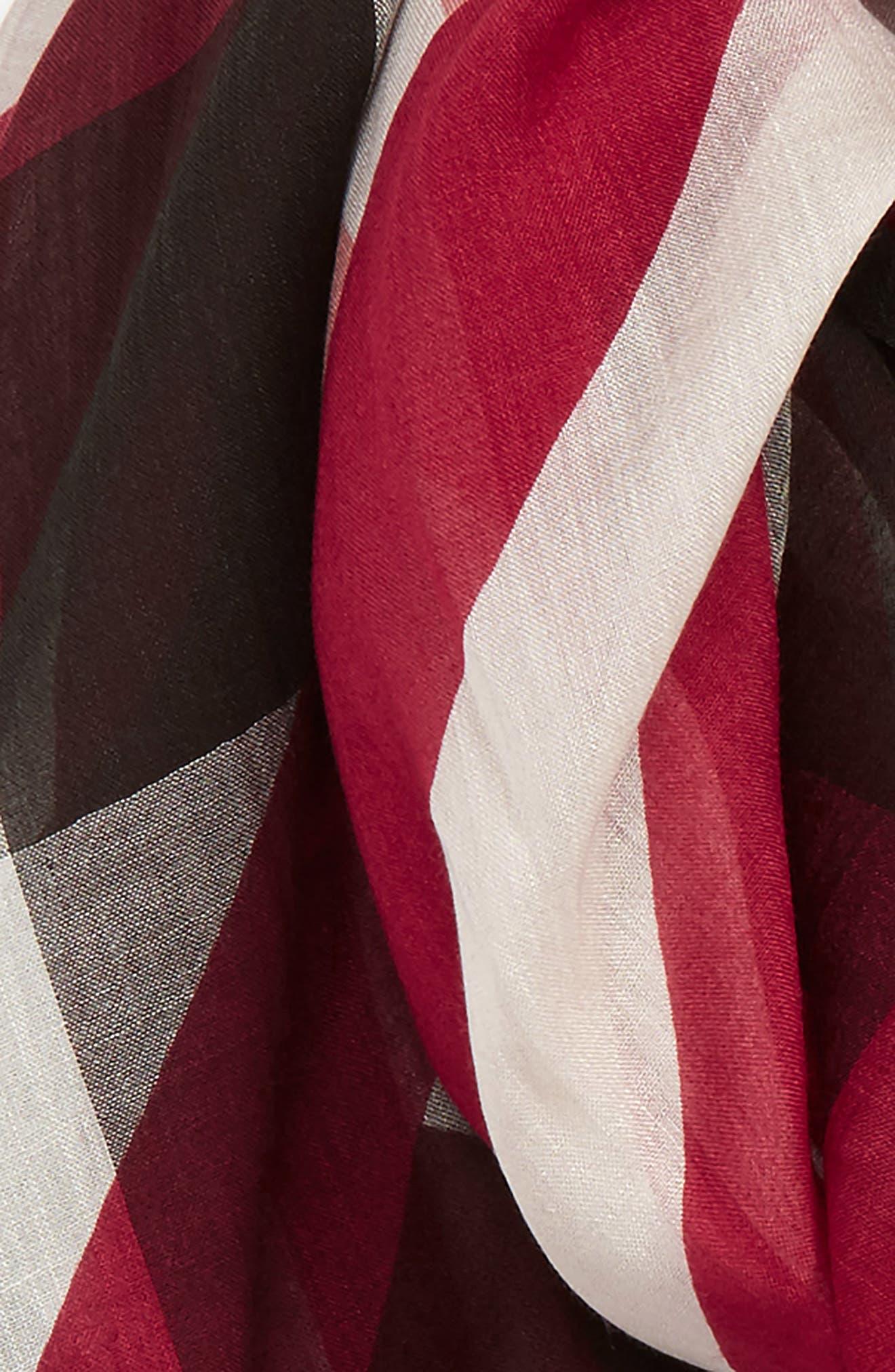 Stripe & Check Scarf,                             Alternate thumbnail 6, color,