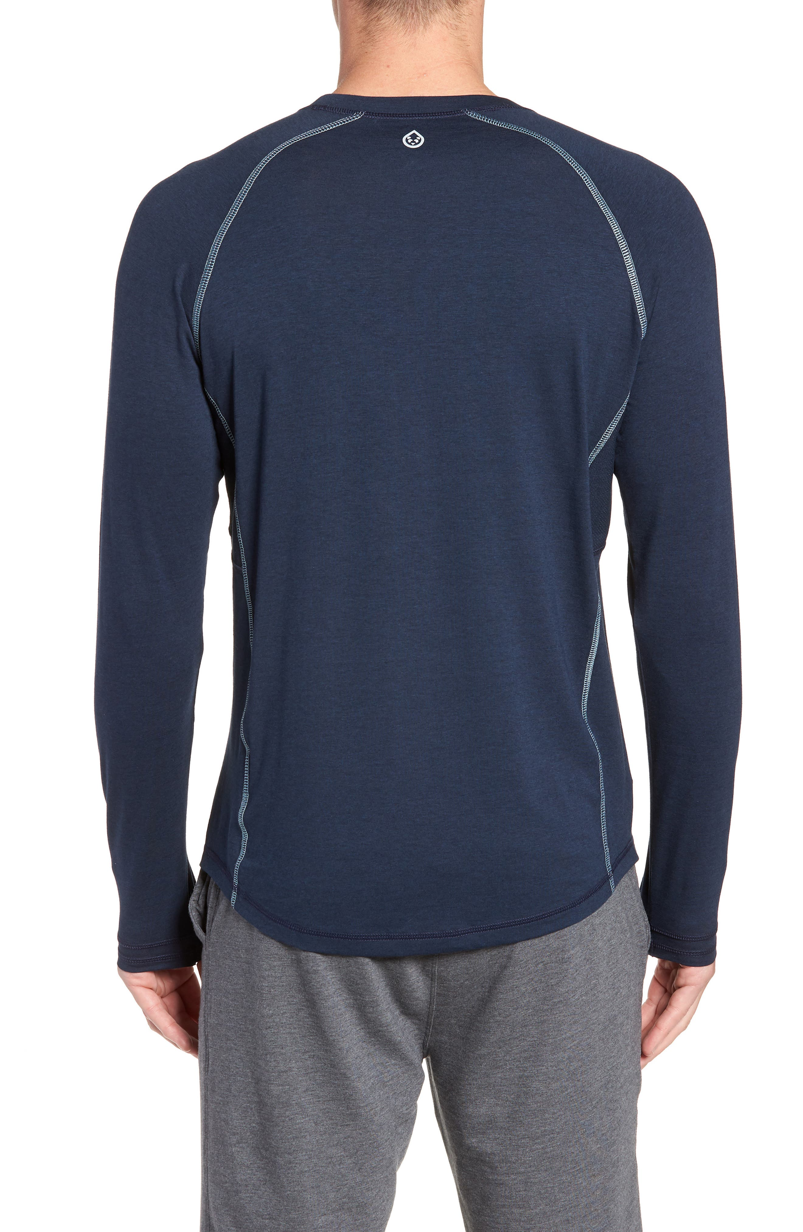 Charge II Long Sleeve T-Shirt,                             Alternate thumbnail 2, color,                             CLASSIC NAVY/ TRANQUILITY SEA