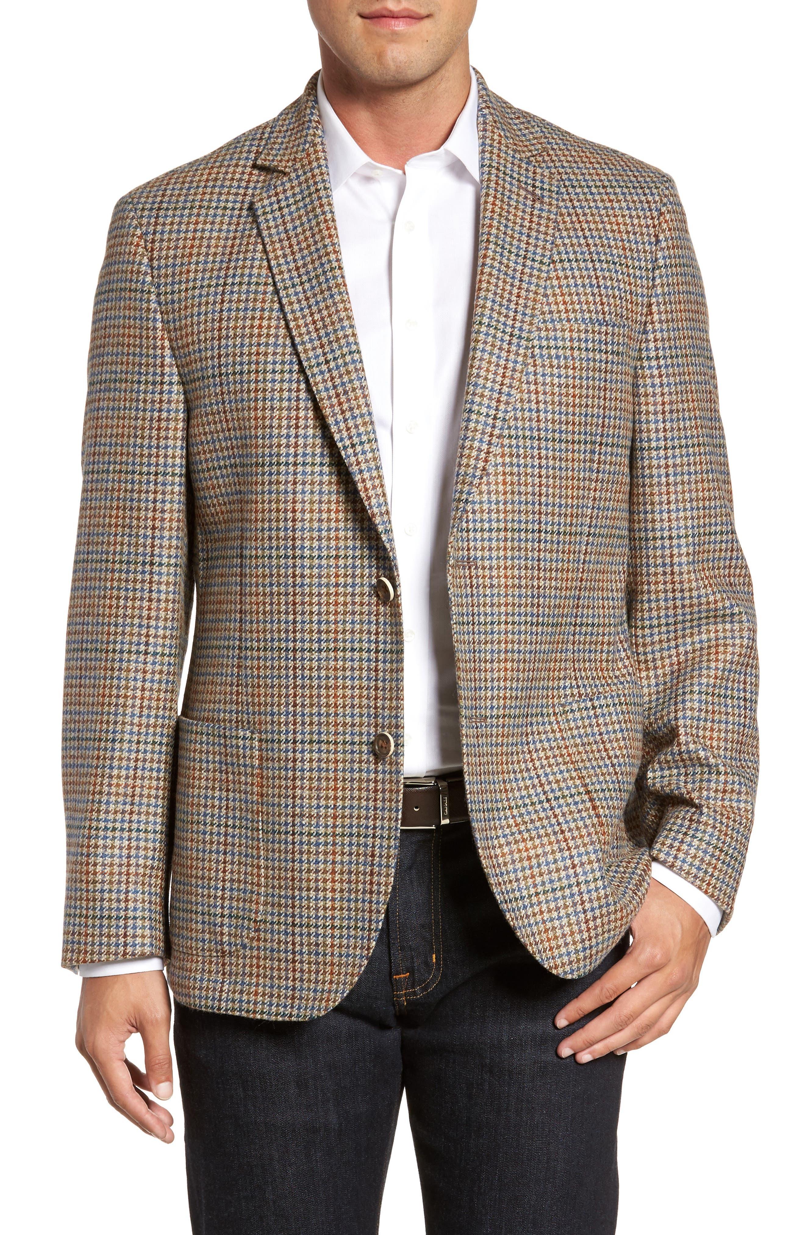 Houndstooth Wool Blend Sport Coat,                         Main,                         color, 250