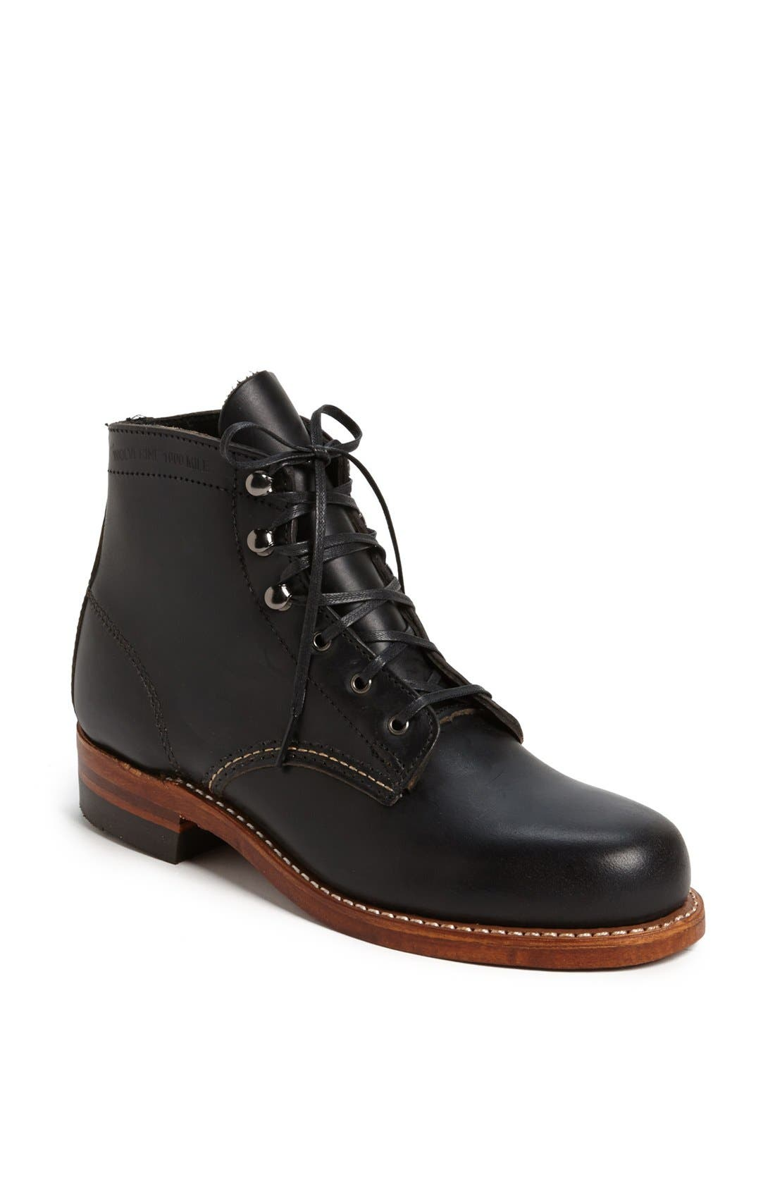 '1000 Mile' Leather Boot,                             Main thumbnail 1, color,                             001