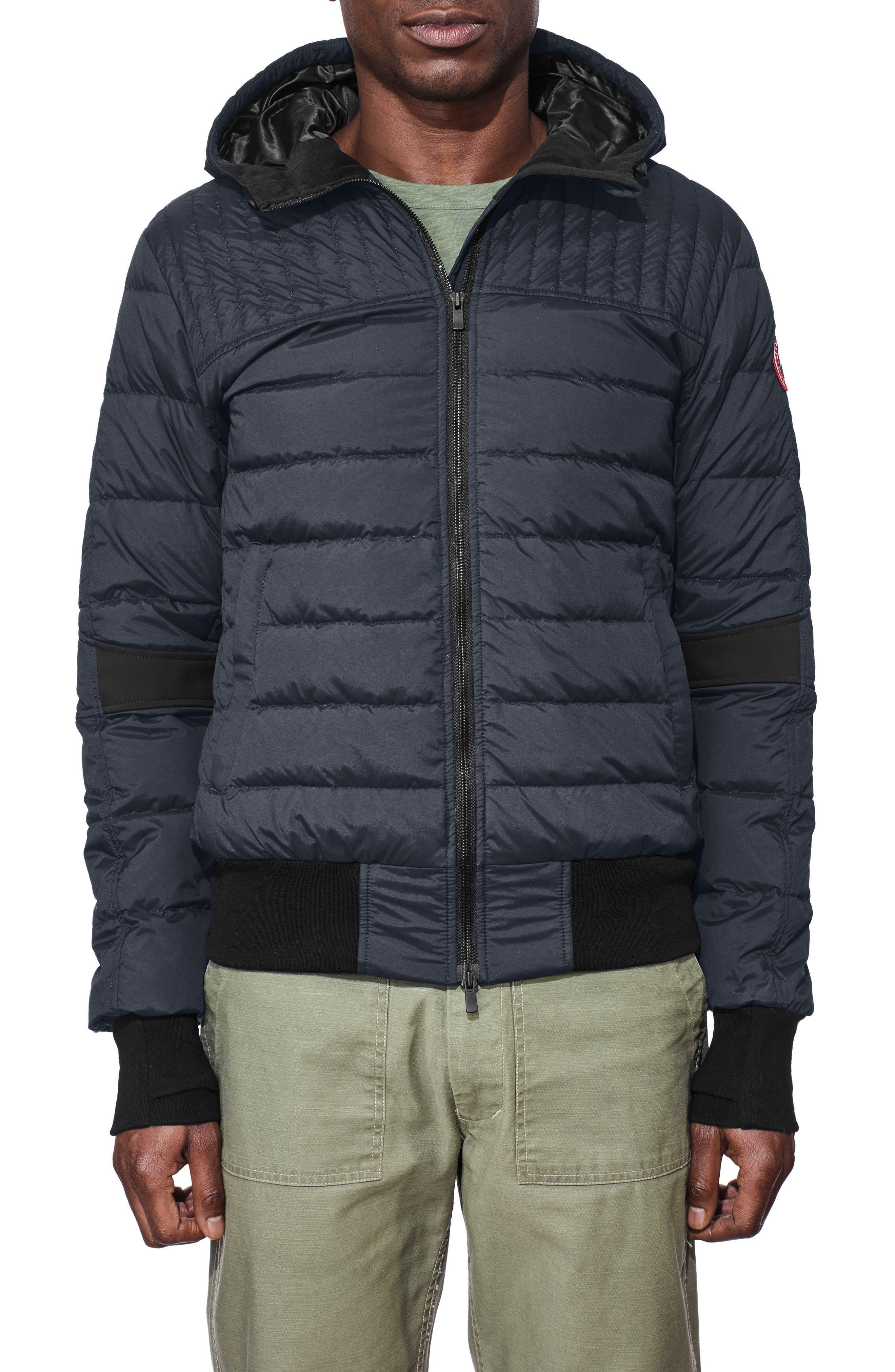 Cabri Hooded Slim Fit Down Jacket,                         Main,                         color, POLAR SEA