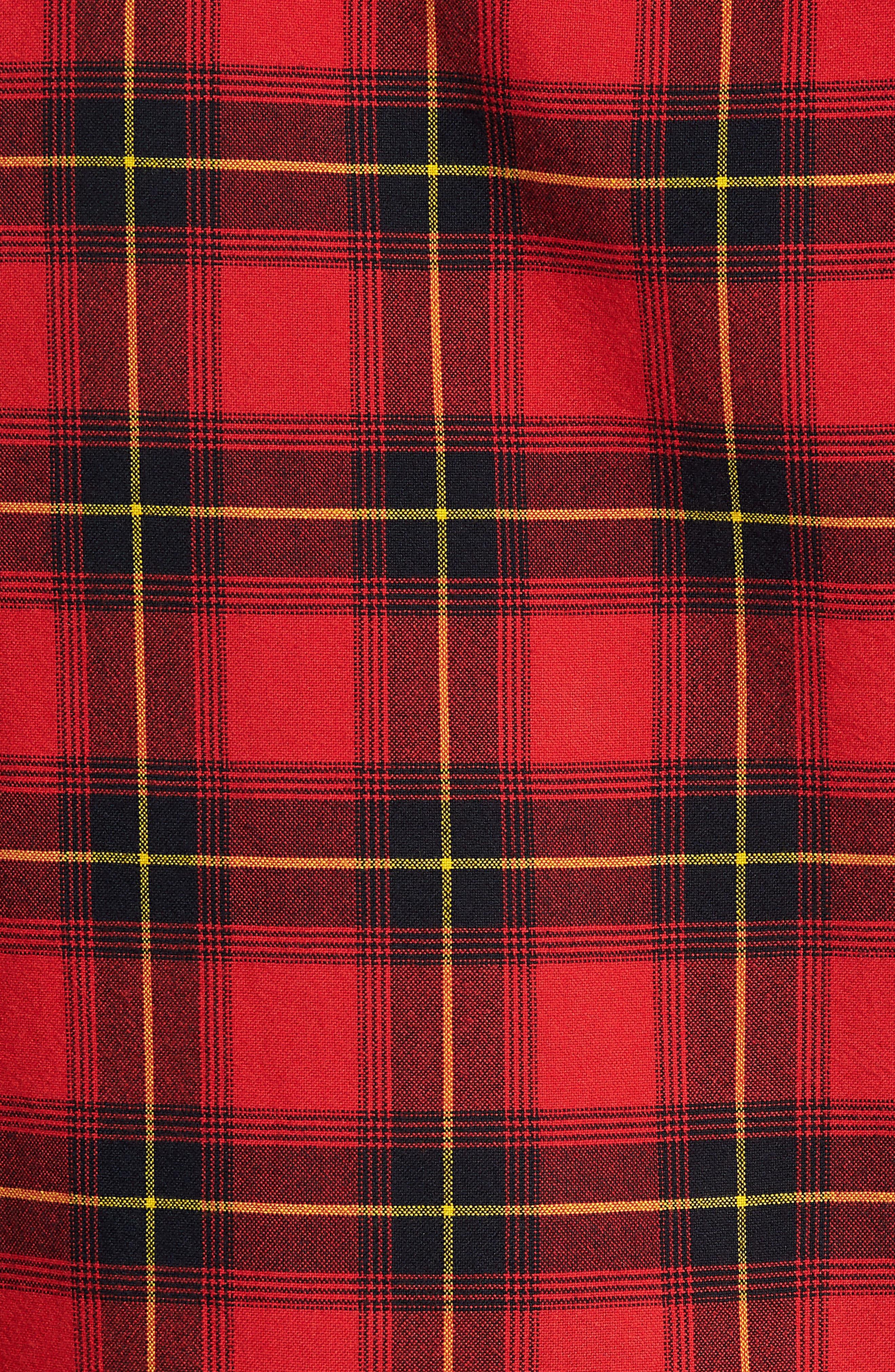 Plaid Oversize Pocket Sport Shirt,                             Alternate thumbnail 5, color,                             610