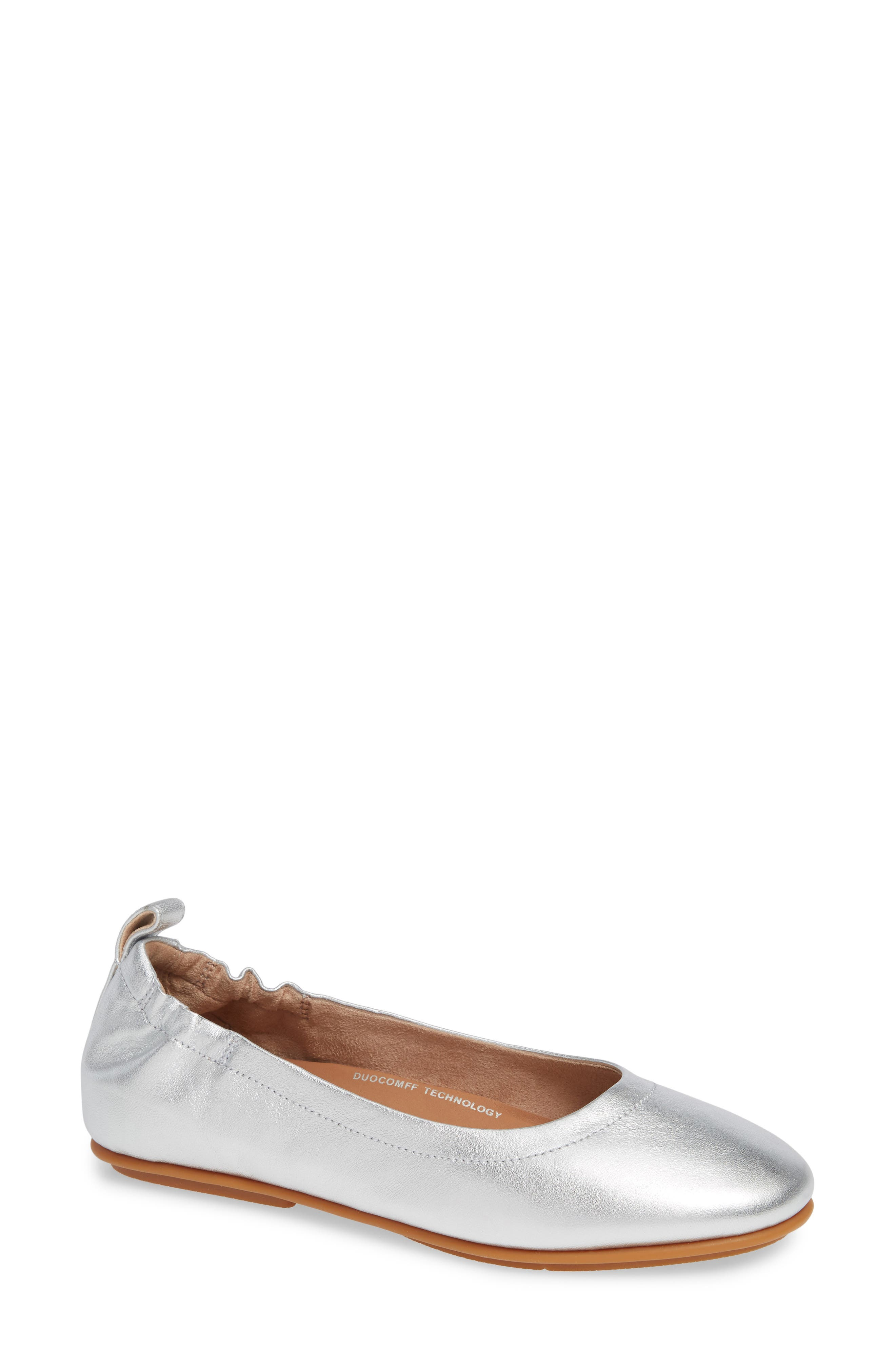 FITFLOP Allegro Ballet Flat in Silver