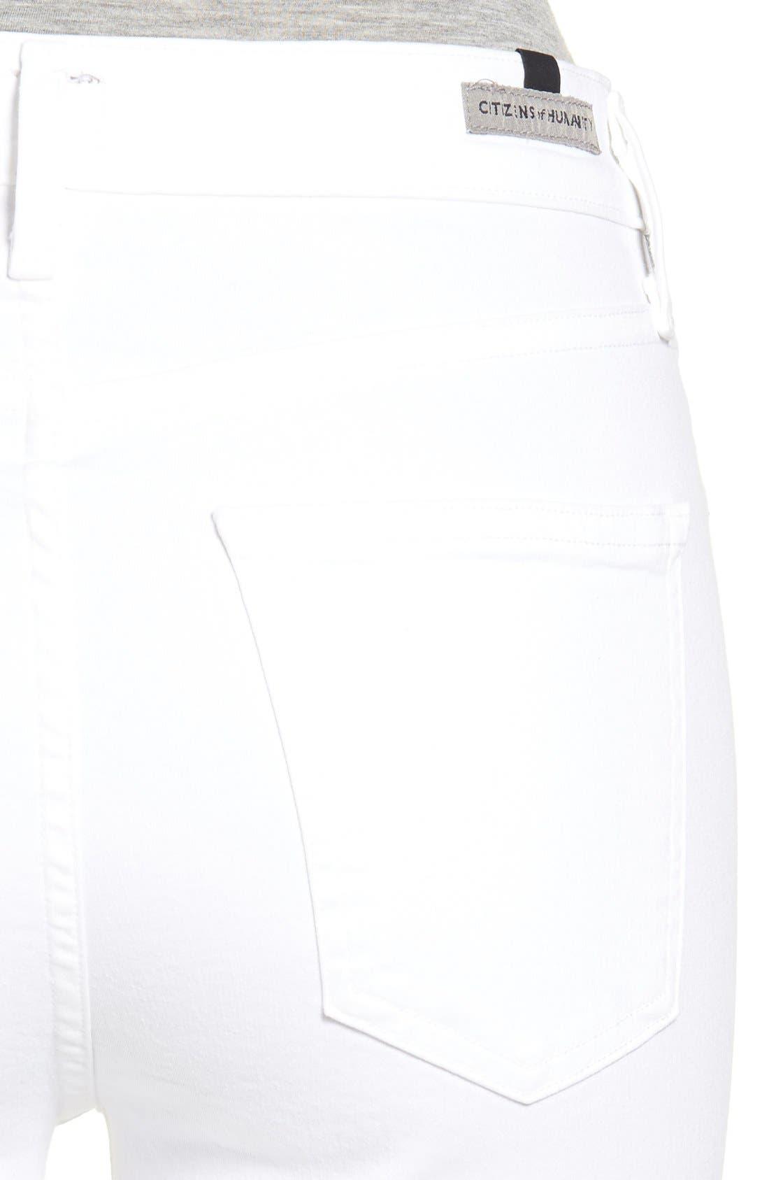 Rocket High Waist Crop Skinny Jeans,                             Alternate thumbnail 7, color,                             SCULPT WHITE