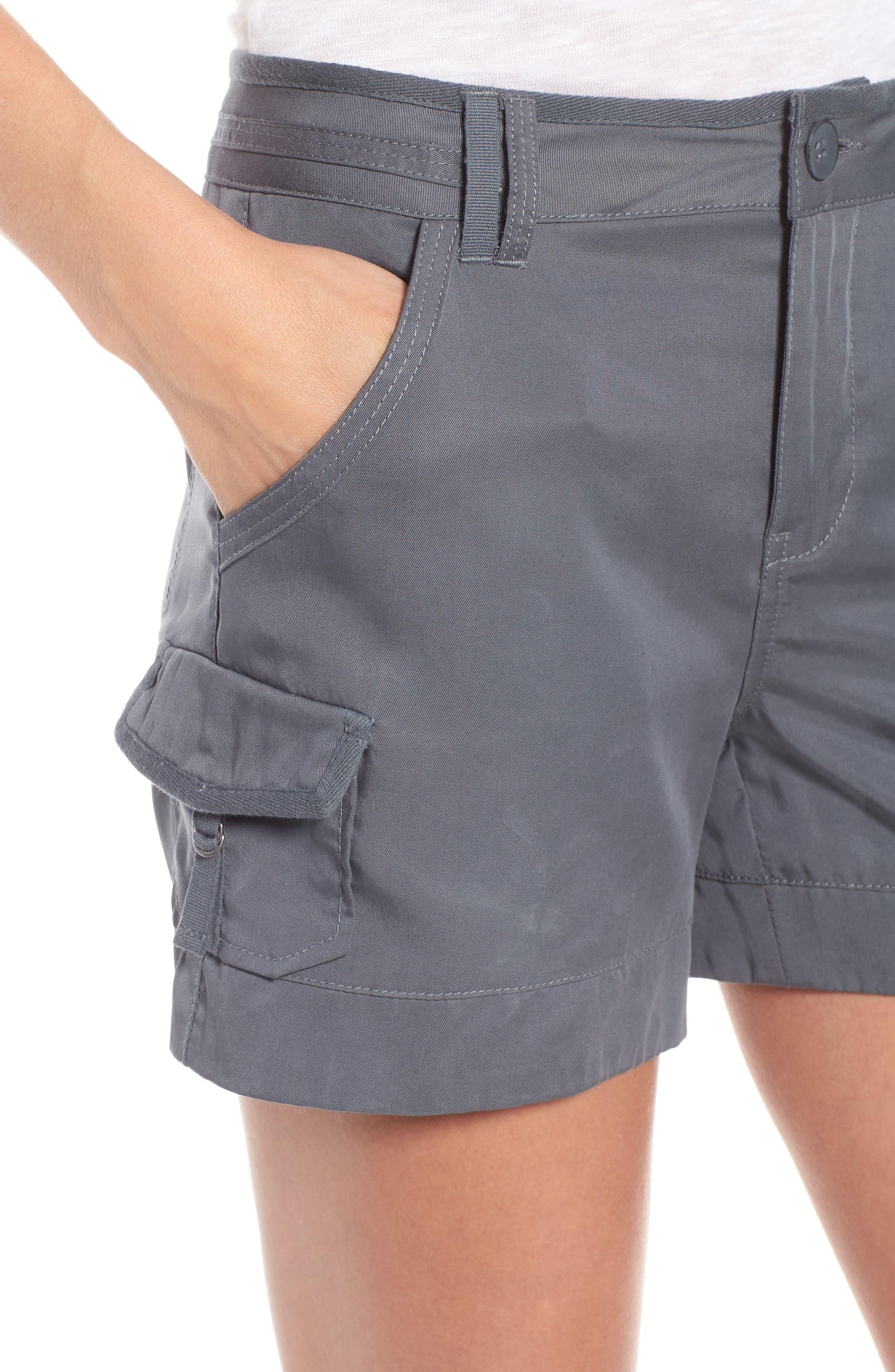 High Rise Tencel Shorts,                             Alternate thumbnail 14, color,